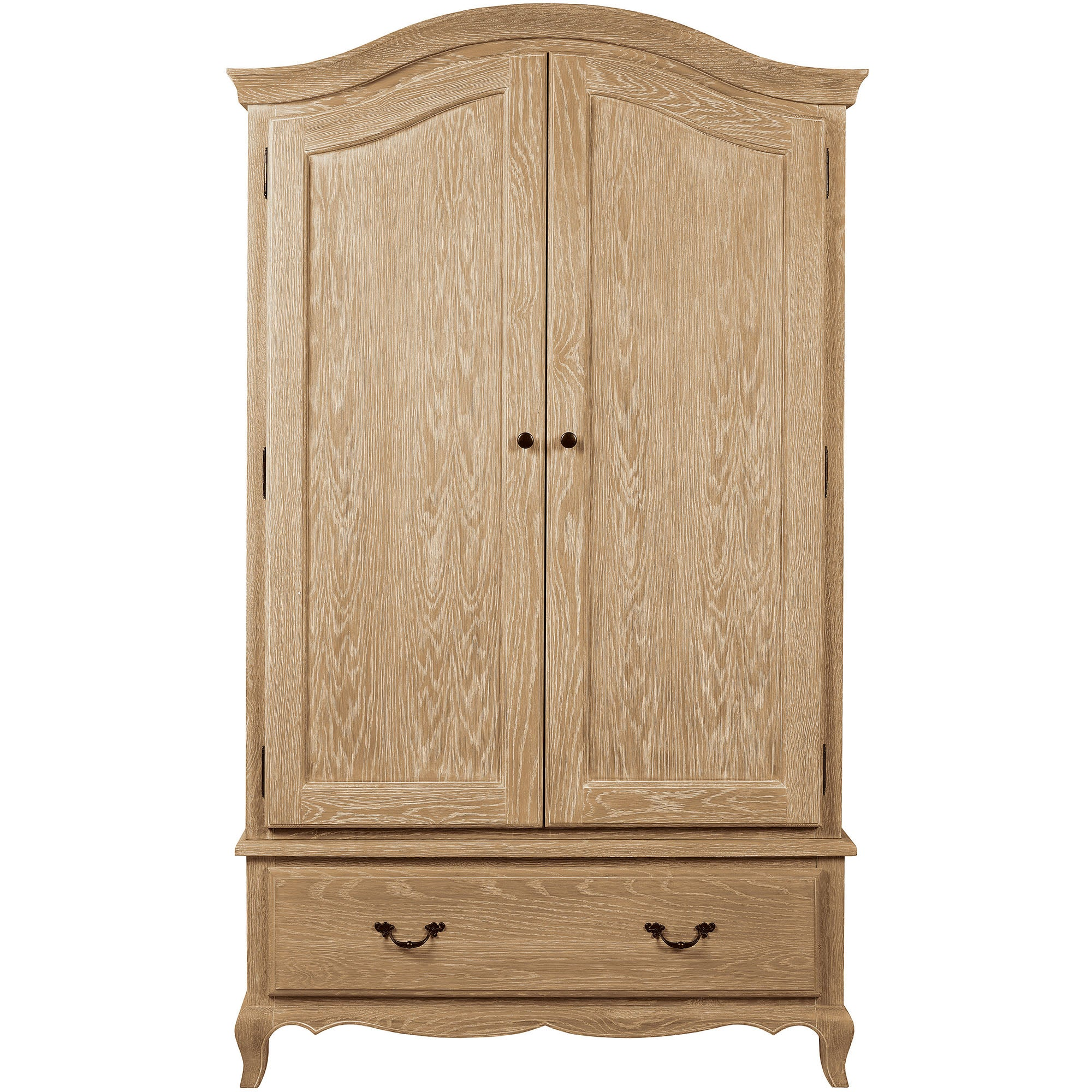 Photo of Annabelle natural oak double wardrobe light brown / natural