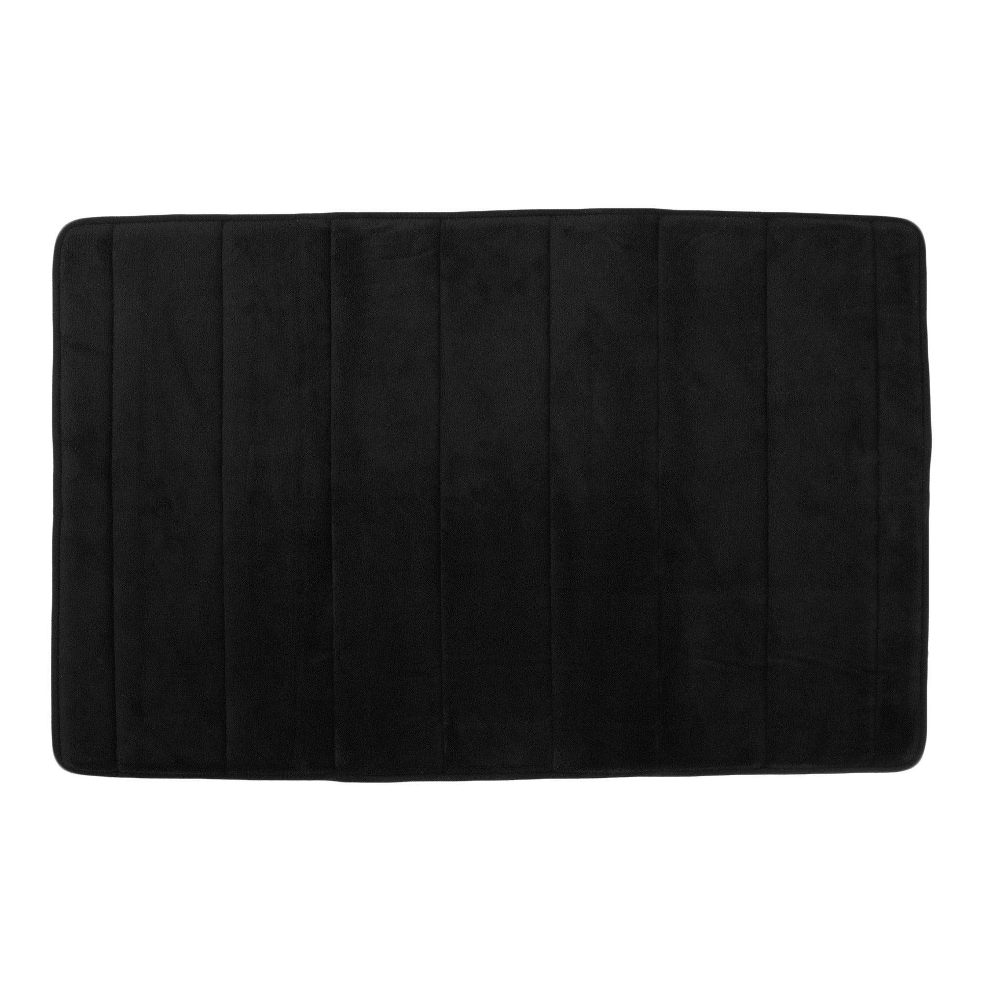 Photo of Memory foam bath mat black