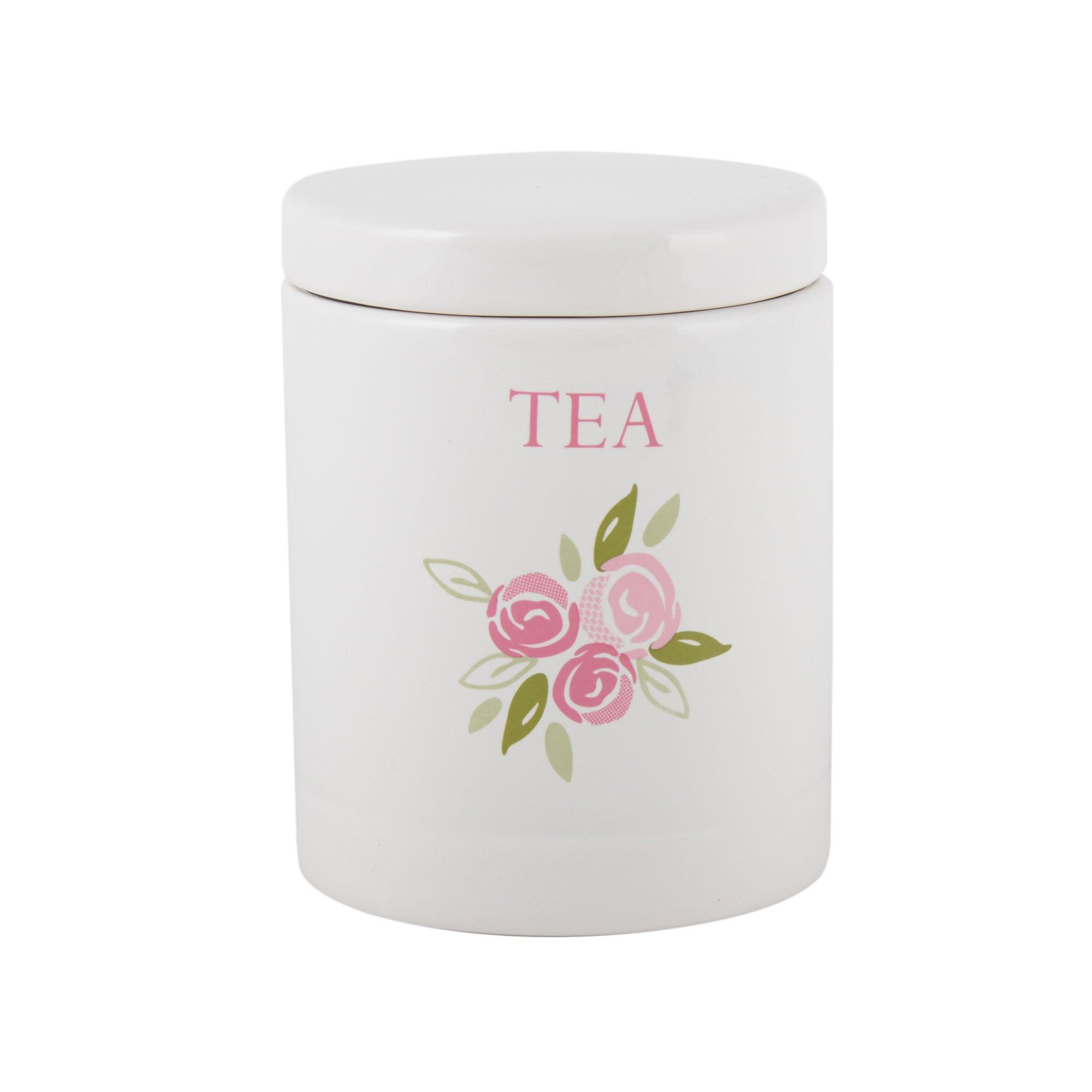 Image of Candy Rose Tea Storage Jar Pink
