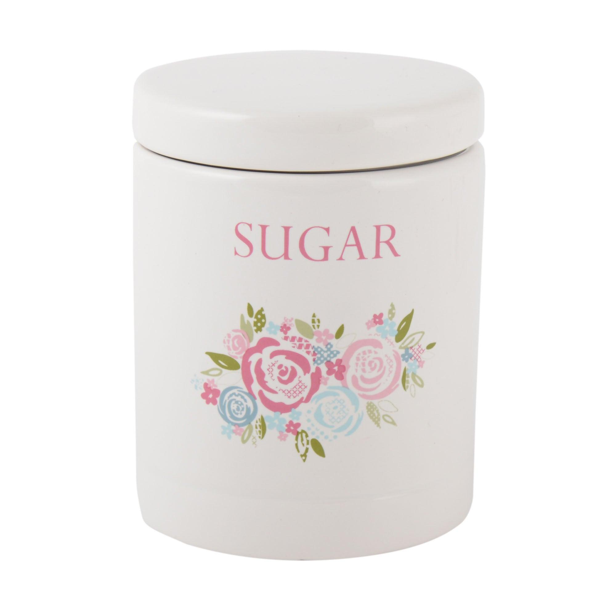 Image of Candy Rose Sugar Storage Jar Pink