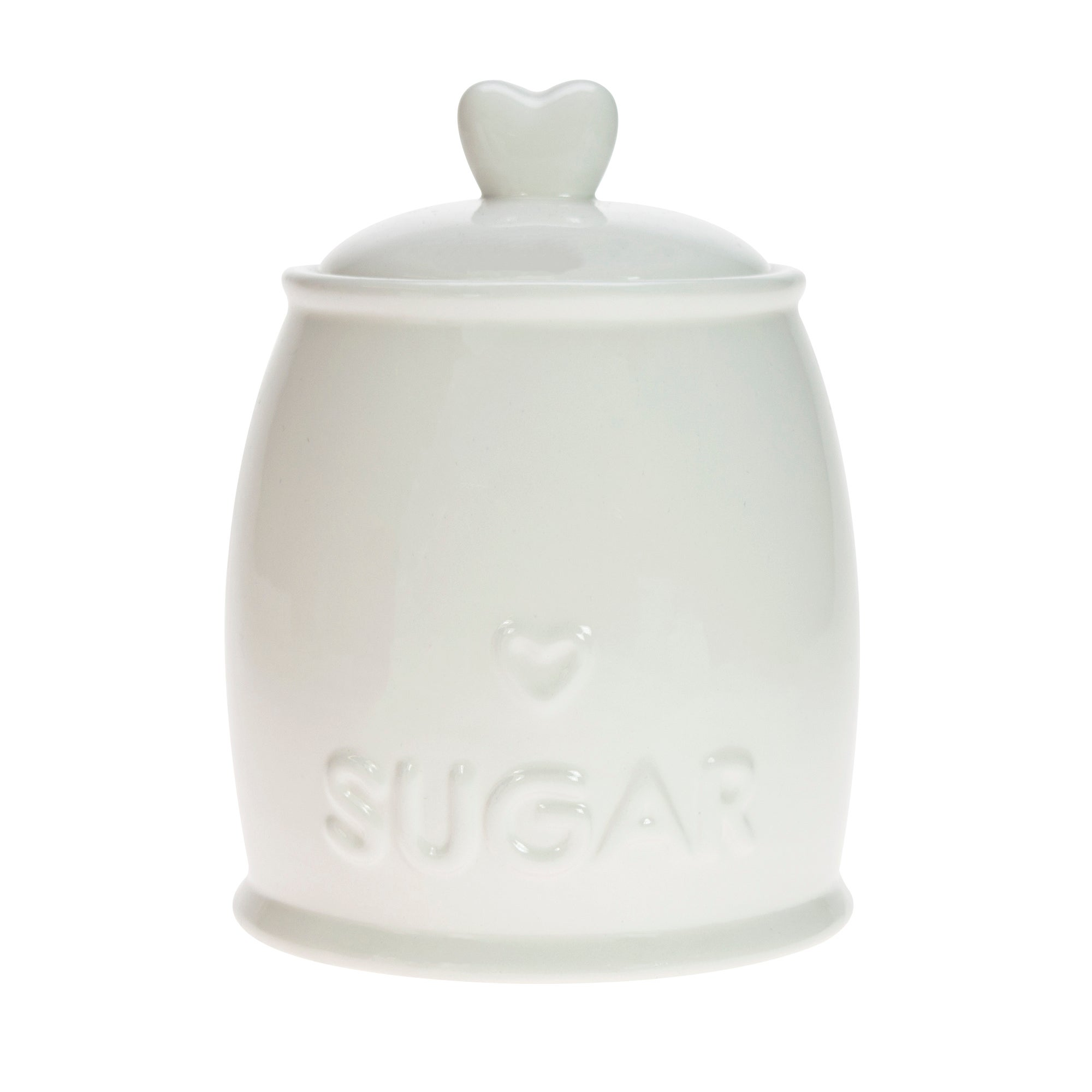 Country Heart Sugar Storage Jar White