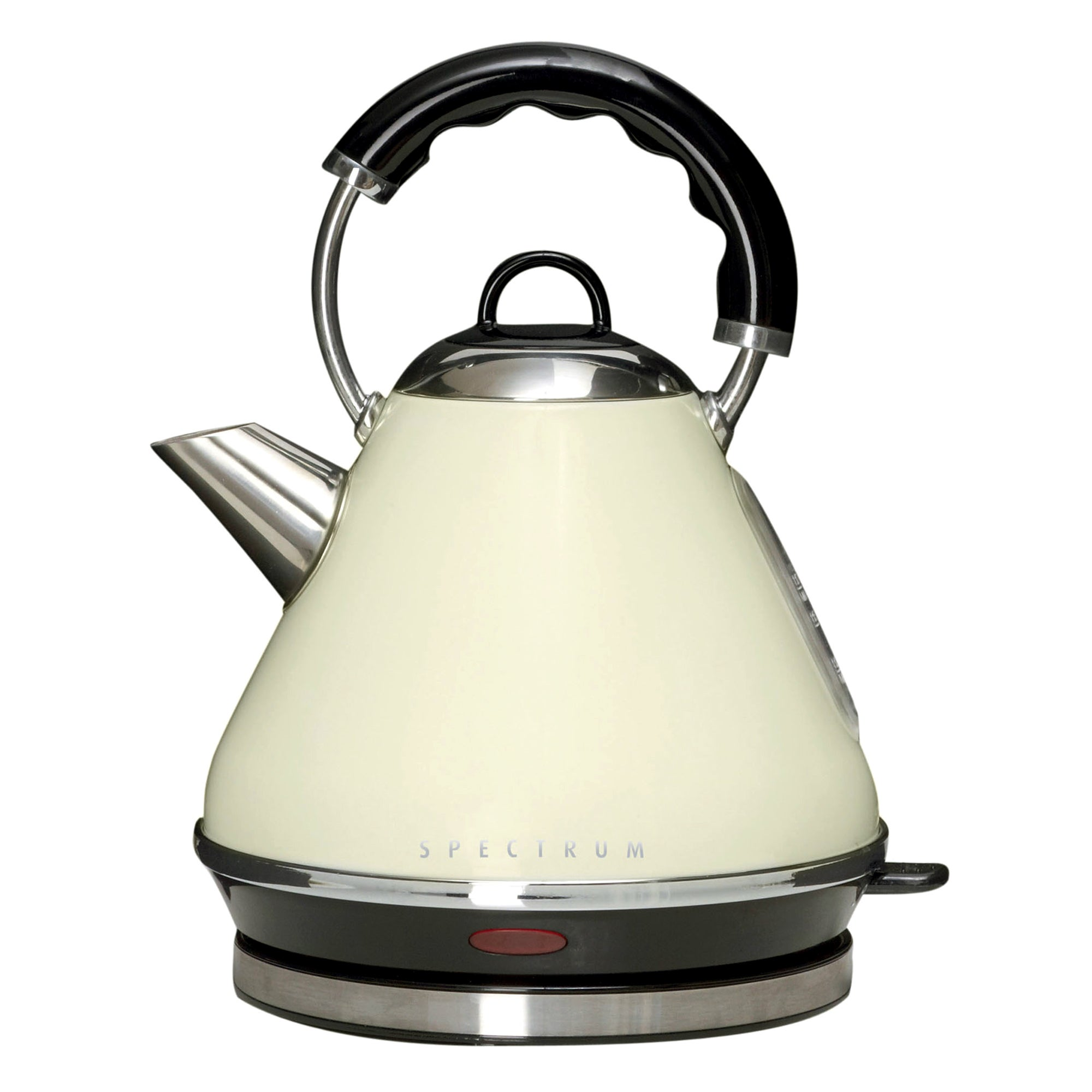 Spectrum 1.7L Cream Pyramid Kettle Cream