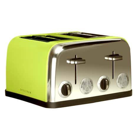 Spectrum Lime 4 Slice Toaster | Dunelm | {Toaster 43}