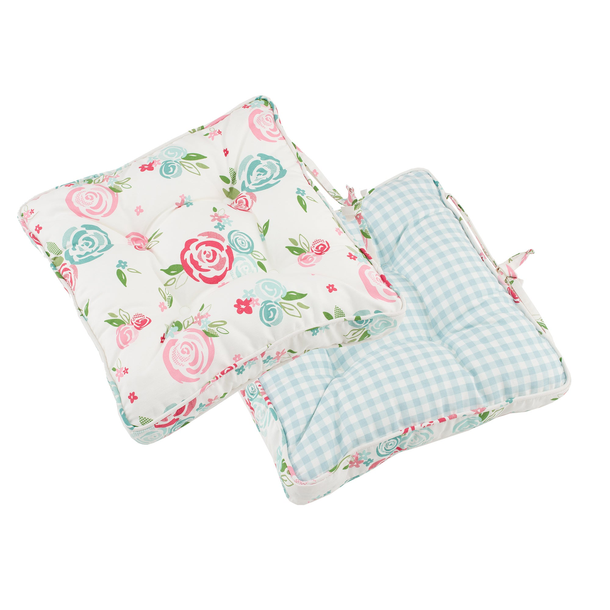 Image of Candy Rose Seat Pad Blue / Pink