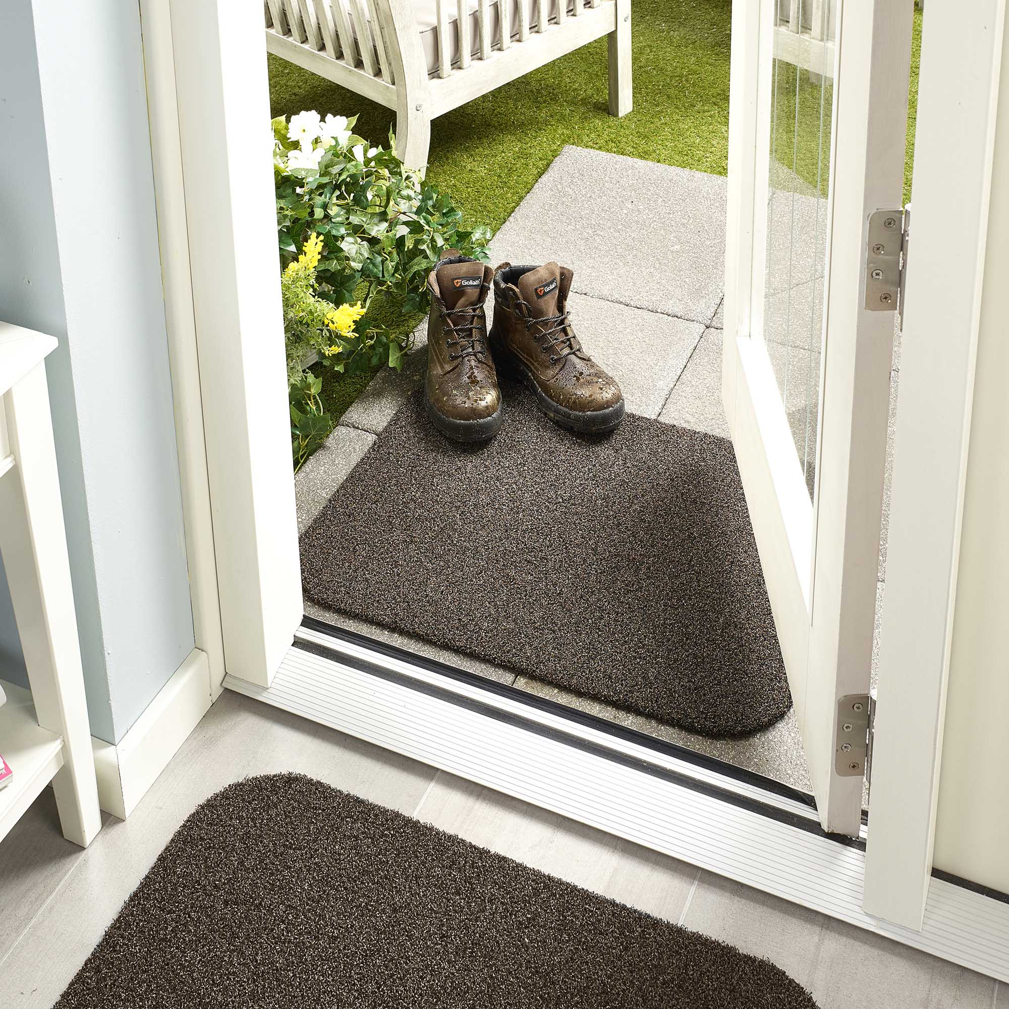 Image of Marvel Coffee Outdoor Washable Mat Dark Brown
