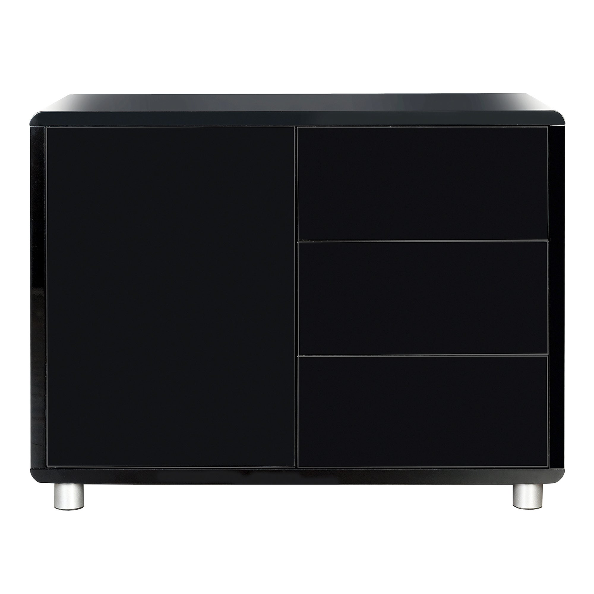 Soho Black Gloss Sideboard Black