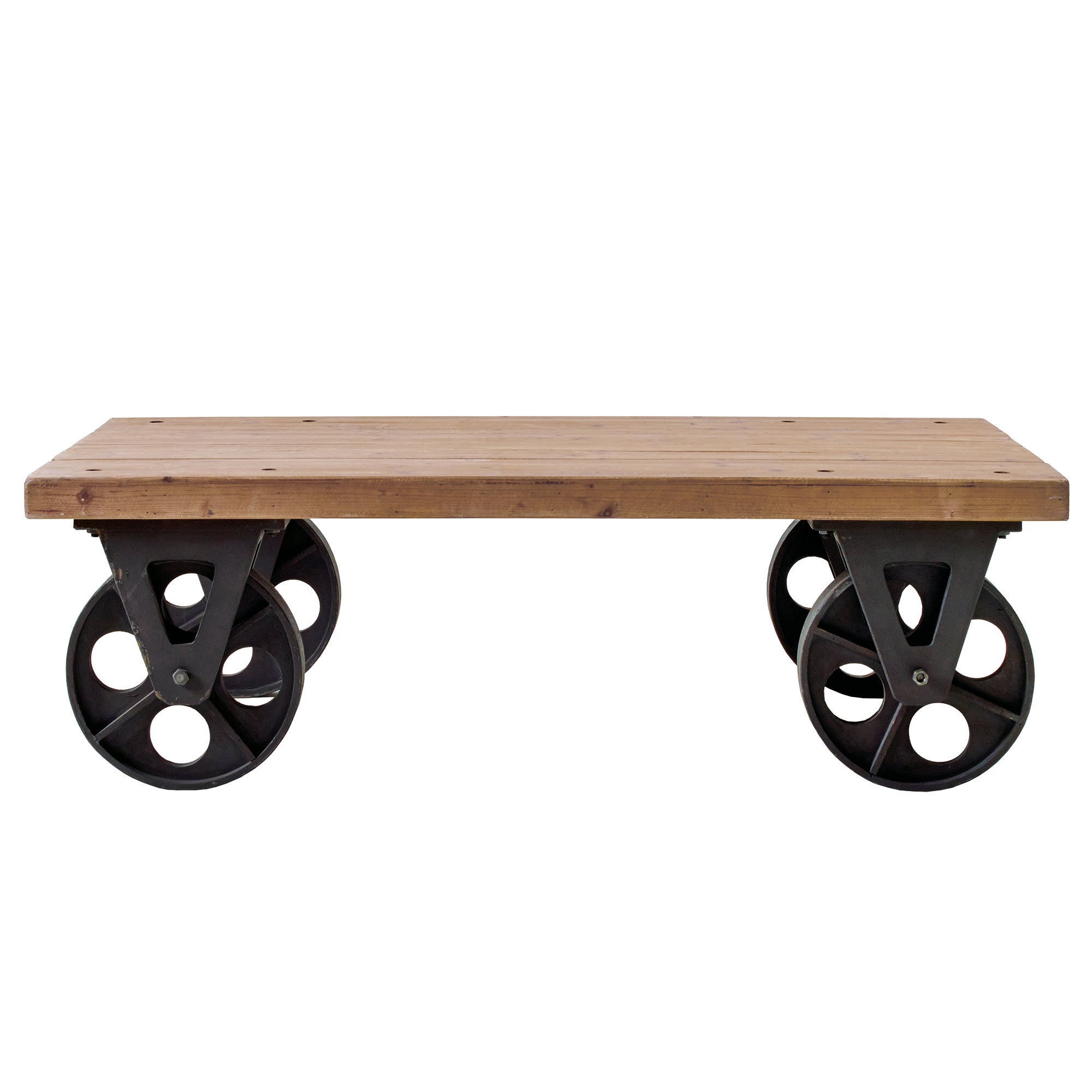 Photo of Spitalfields coffee table with wheels brown