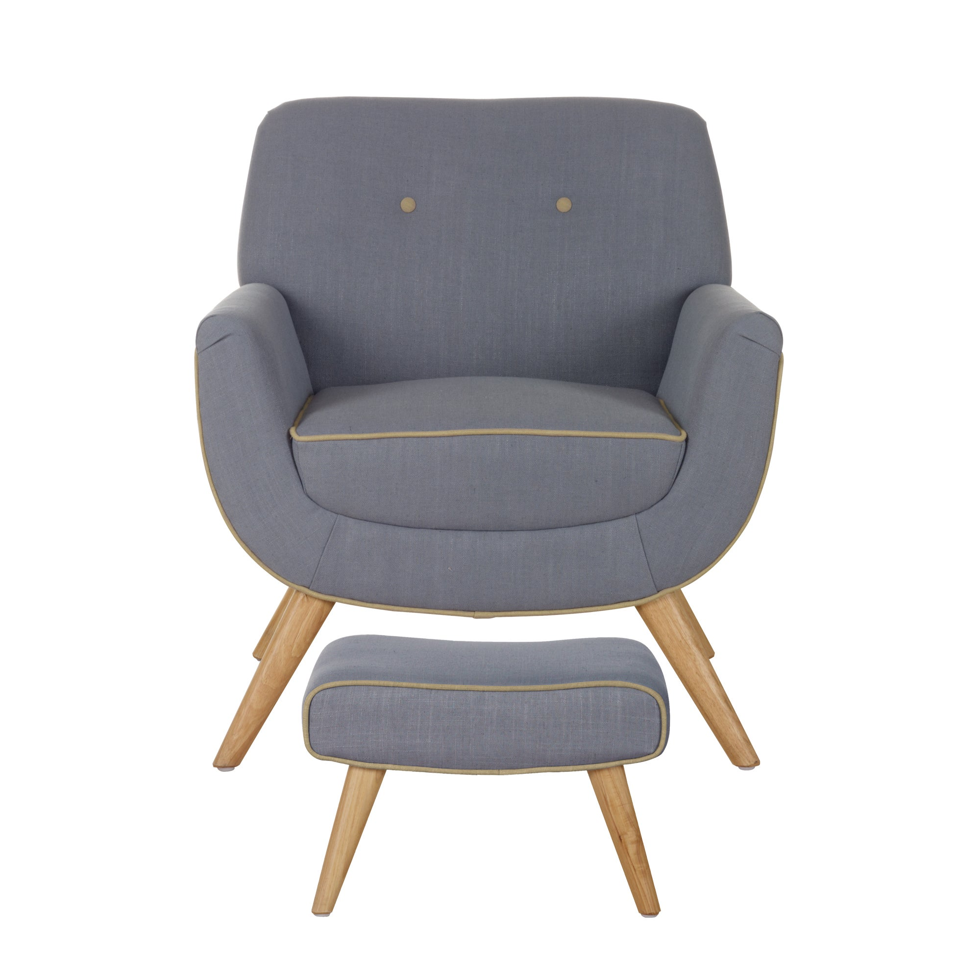 Skandi Charcoal Armchair and Footstool Charcoal Grey
