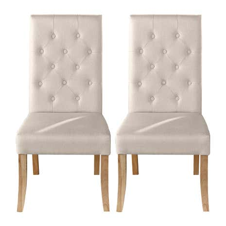 Antoinette Cream Pair Of Dining Chairs