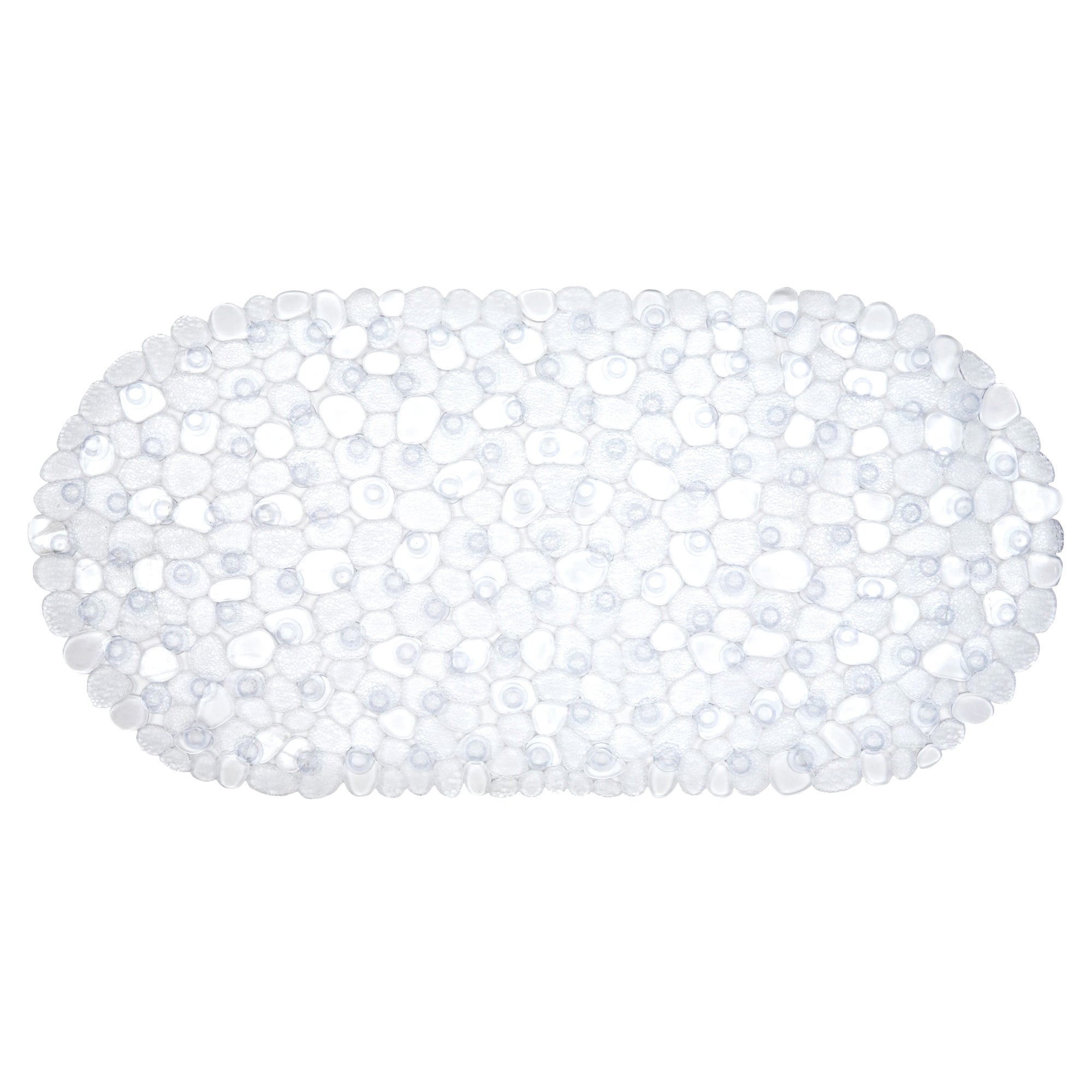 Photo of Pebble pvc bath mat clear