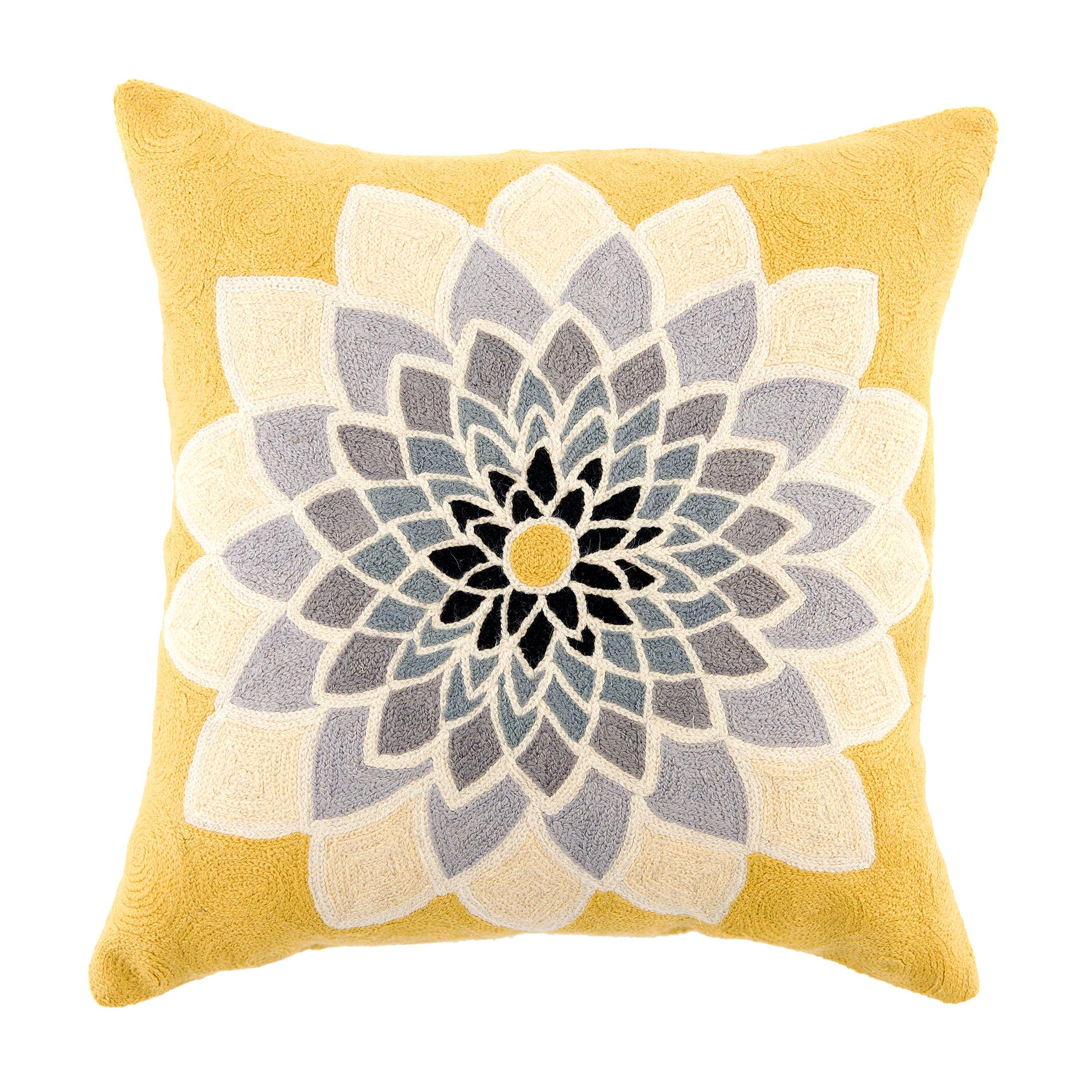 Image of Flowering Cushion Grey / Yellow