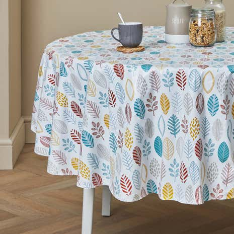 Marvelous Cosy Skandi PVC Round Tablecloth