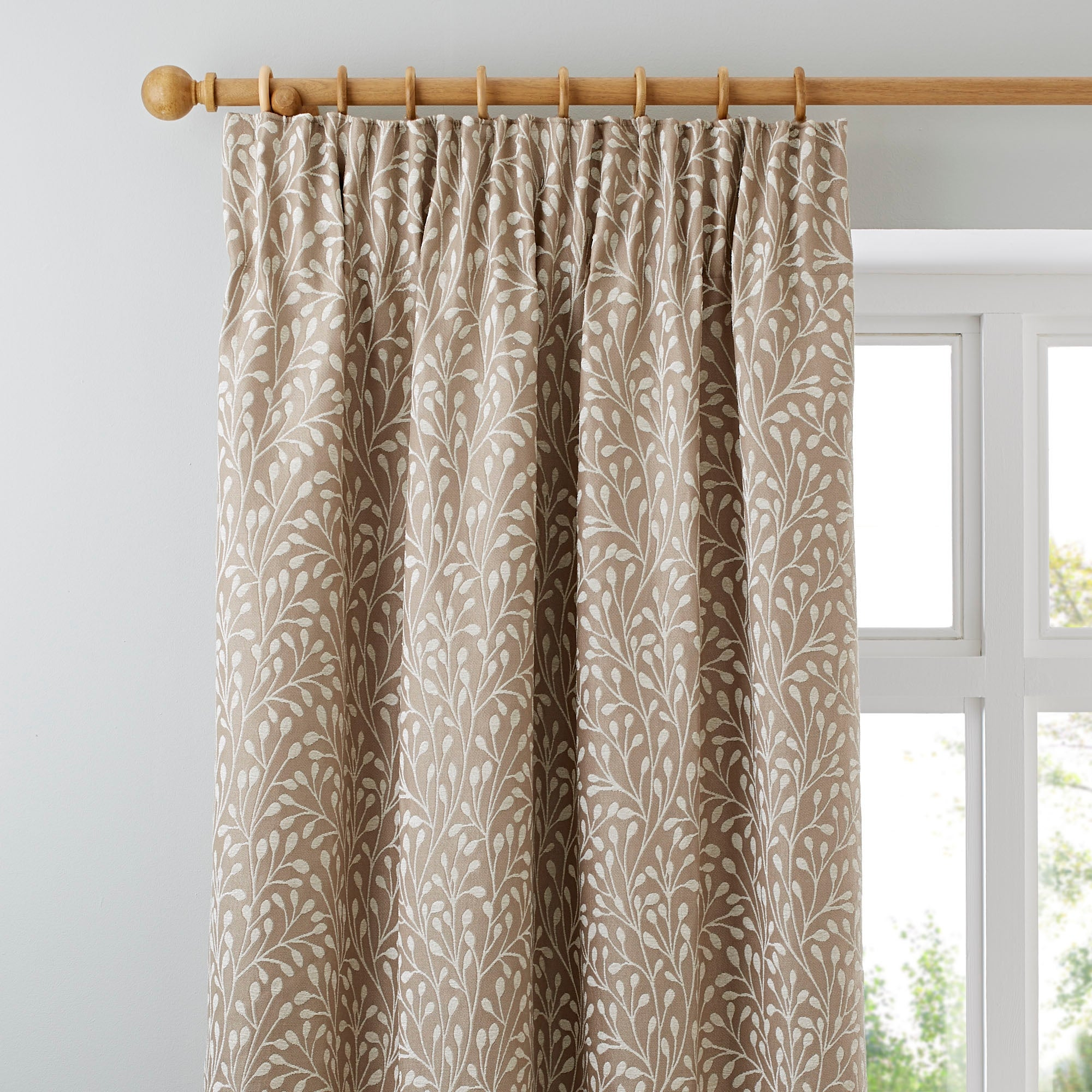 Photo of Willow cream lined pencil pleat curtains cream