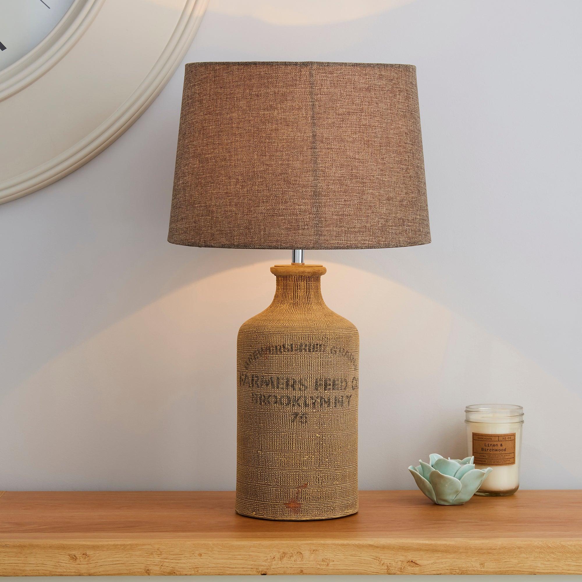 Albury Jute Sack Table Lamp Light Brown / Natural