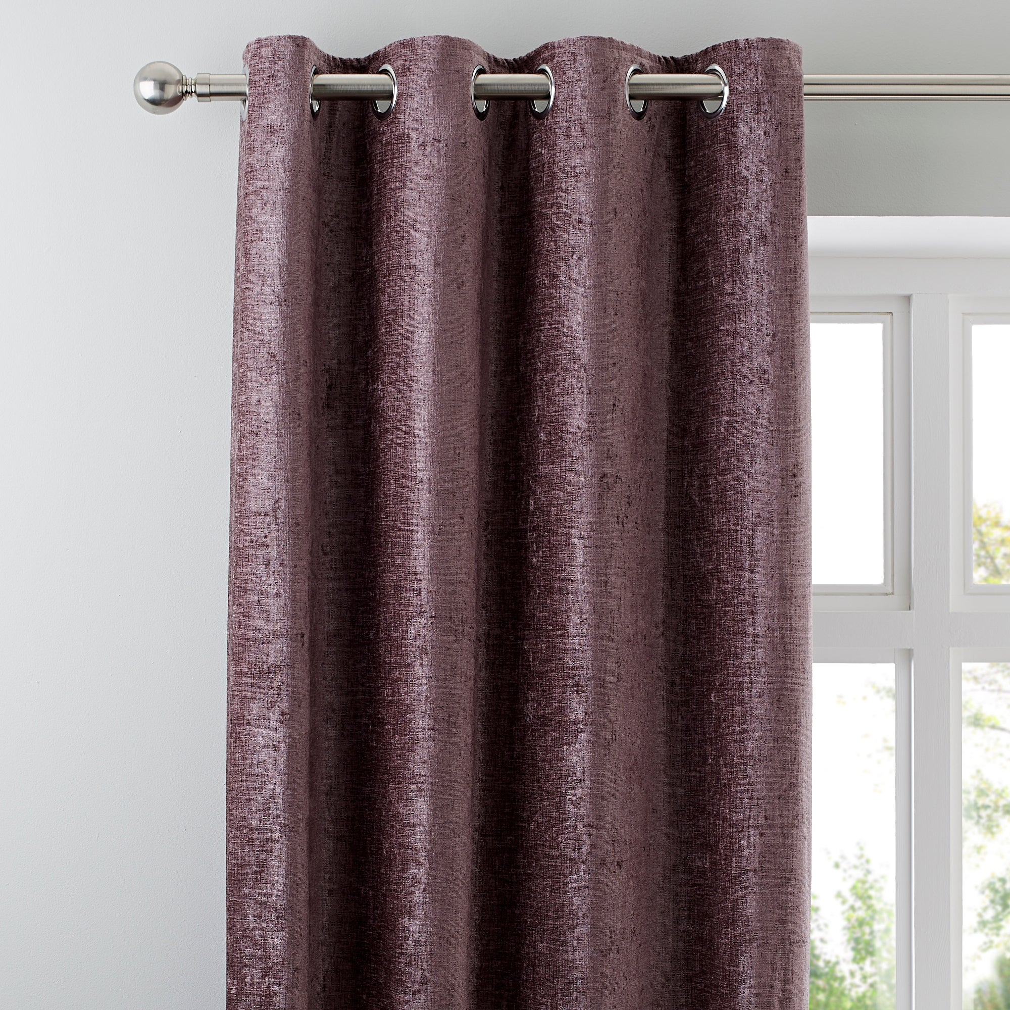 Curtains Ideas burgundy eyelet curtains : Chenille Curtains | Dunelm