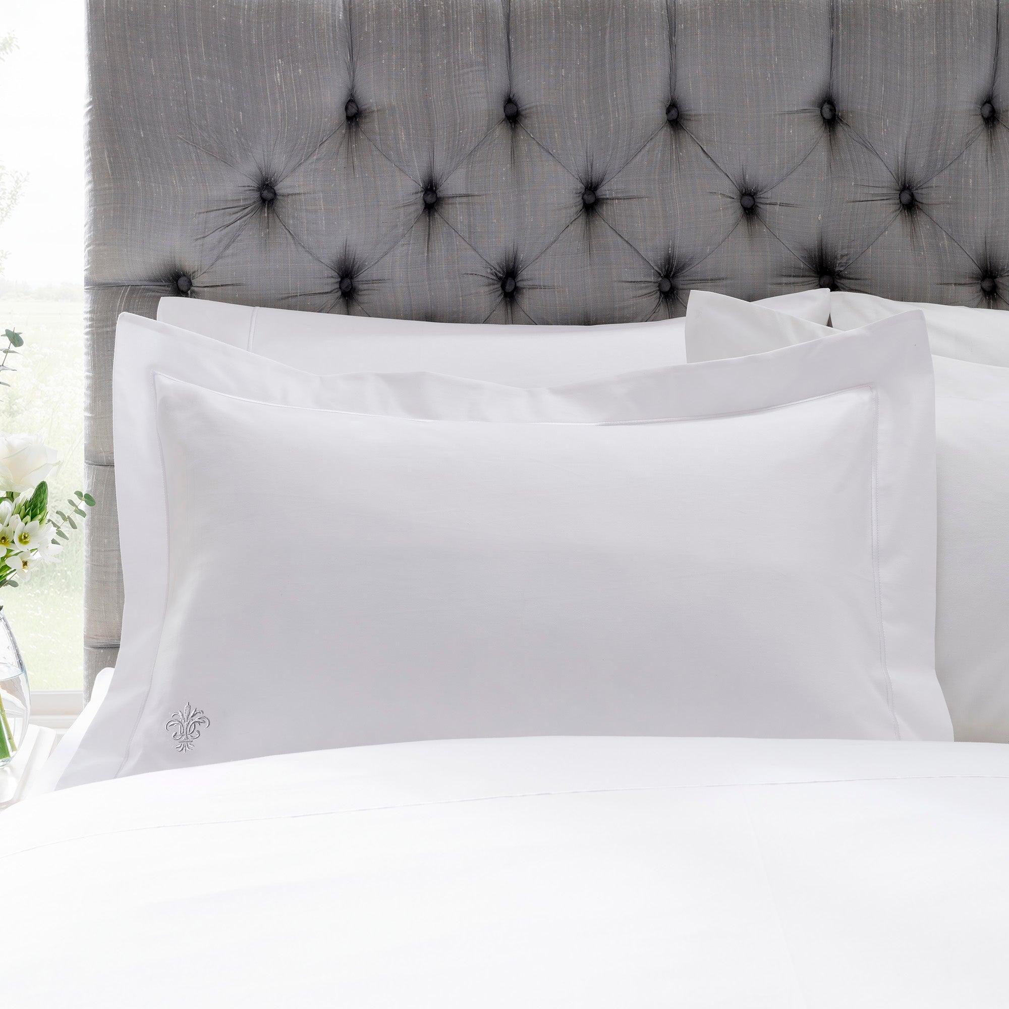 Image of Dorma 1000 Thread Count Egyptian Cotton Oxford Pillowcase White