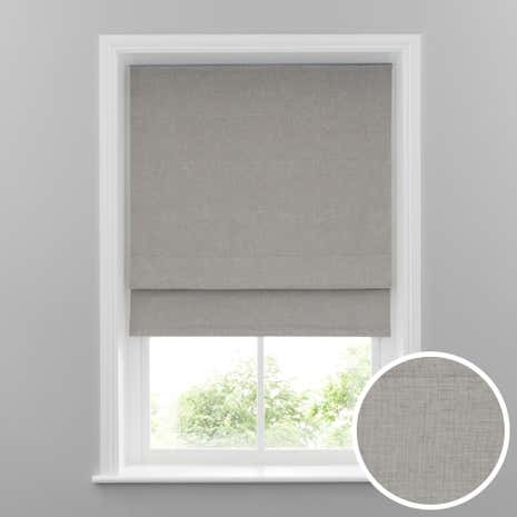 Grey Linen Blackout Roman Blind Dunelm - Roman blinds