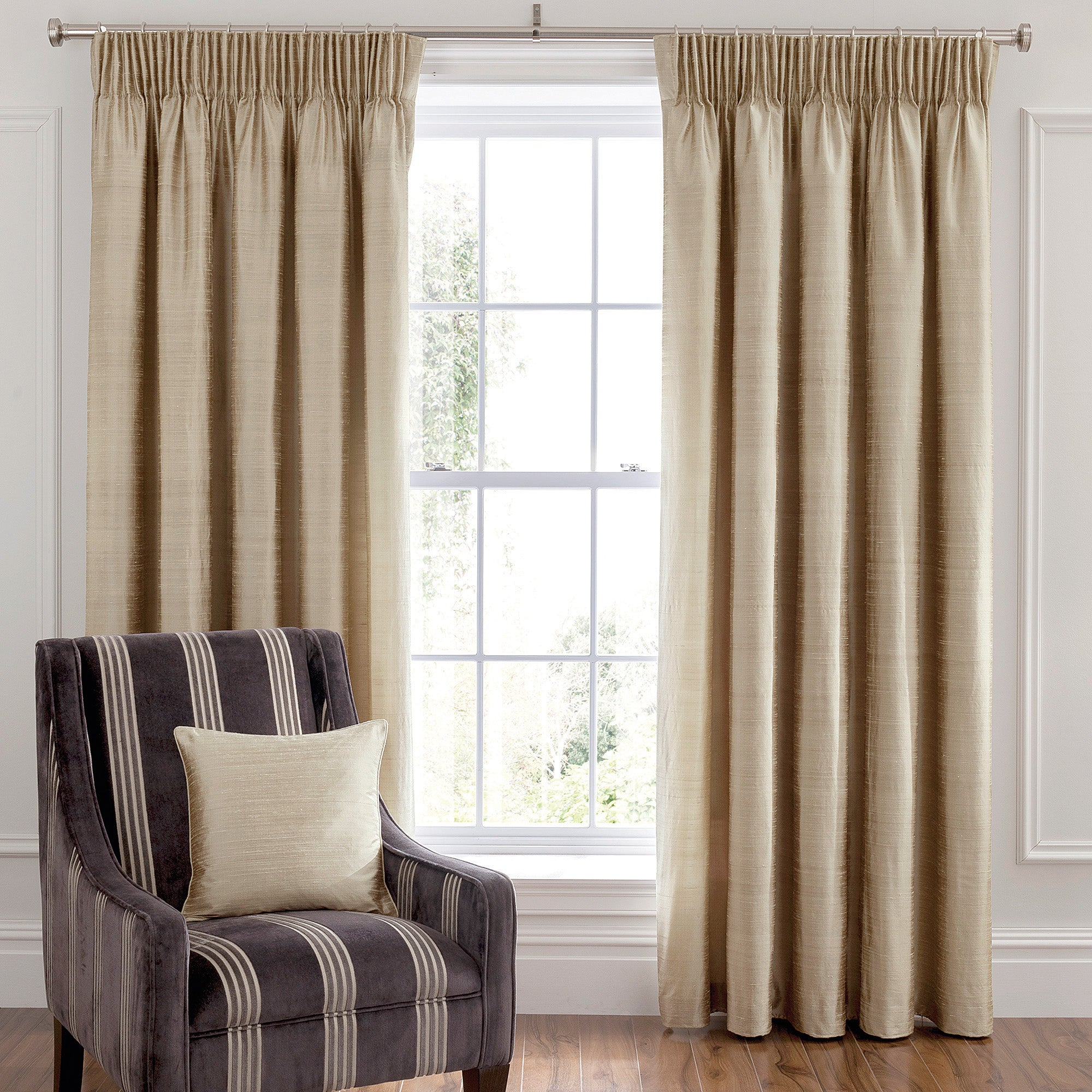 Photo of Dorma beresford champagne lined pencil pleat curtains cream