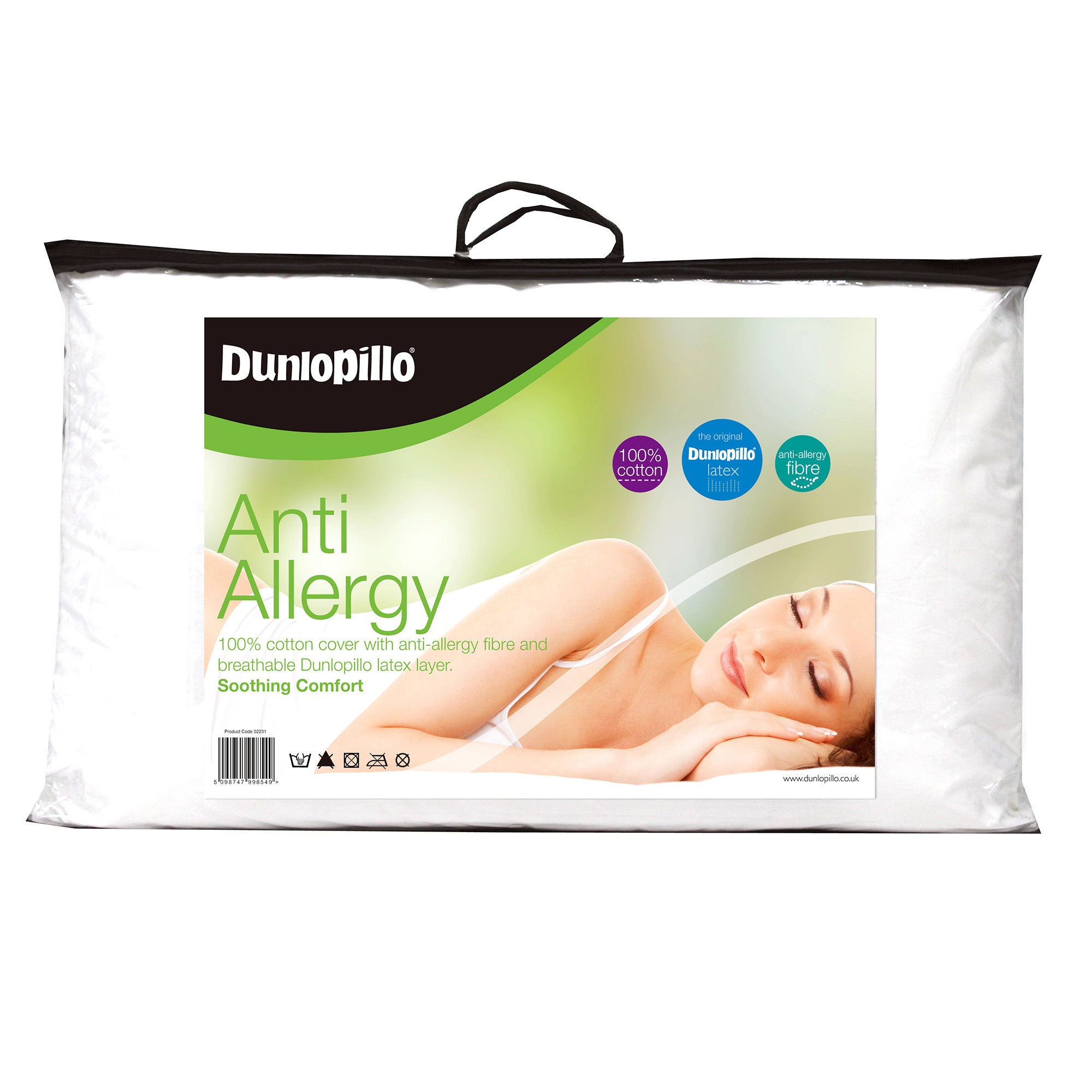 Image of Dunlopillo Anti-Allergy Firm-Support Pillow White