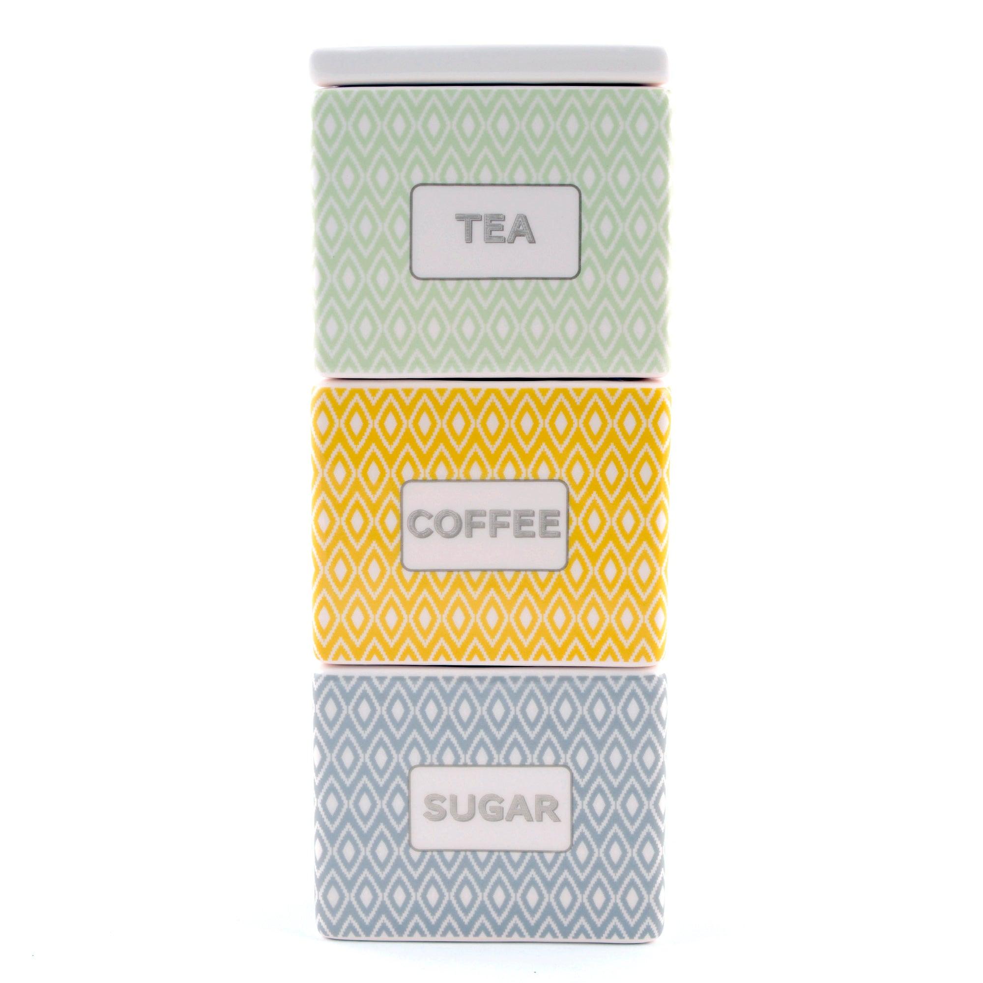 for cosy skandi assorted square stacking jars grey. Black Bedroom Furniture Sets. Home Design Ideas