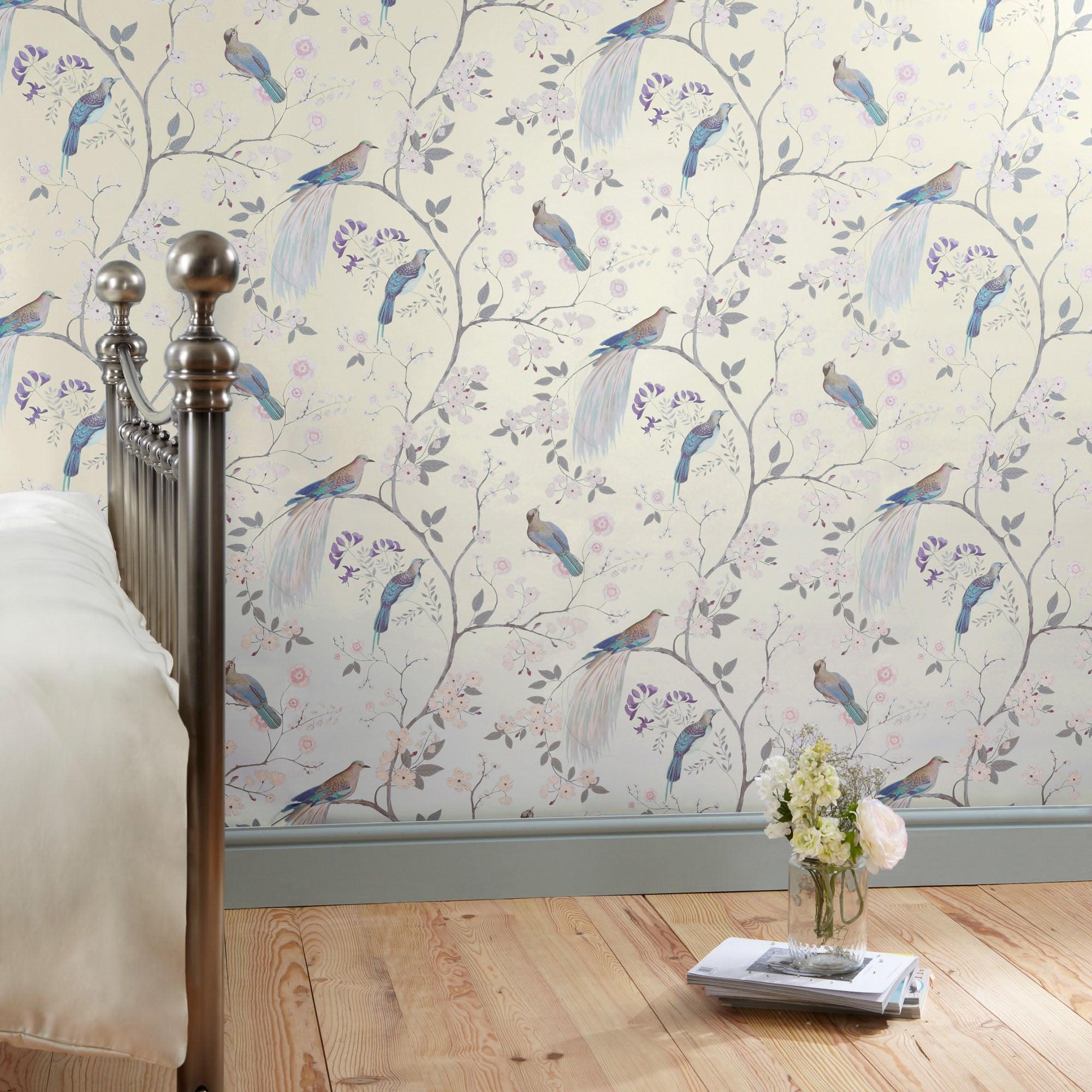 Dorma Natural Maiya Wallpaper Light Brown