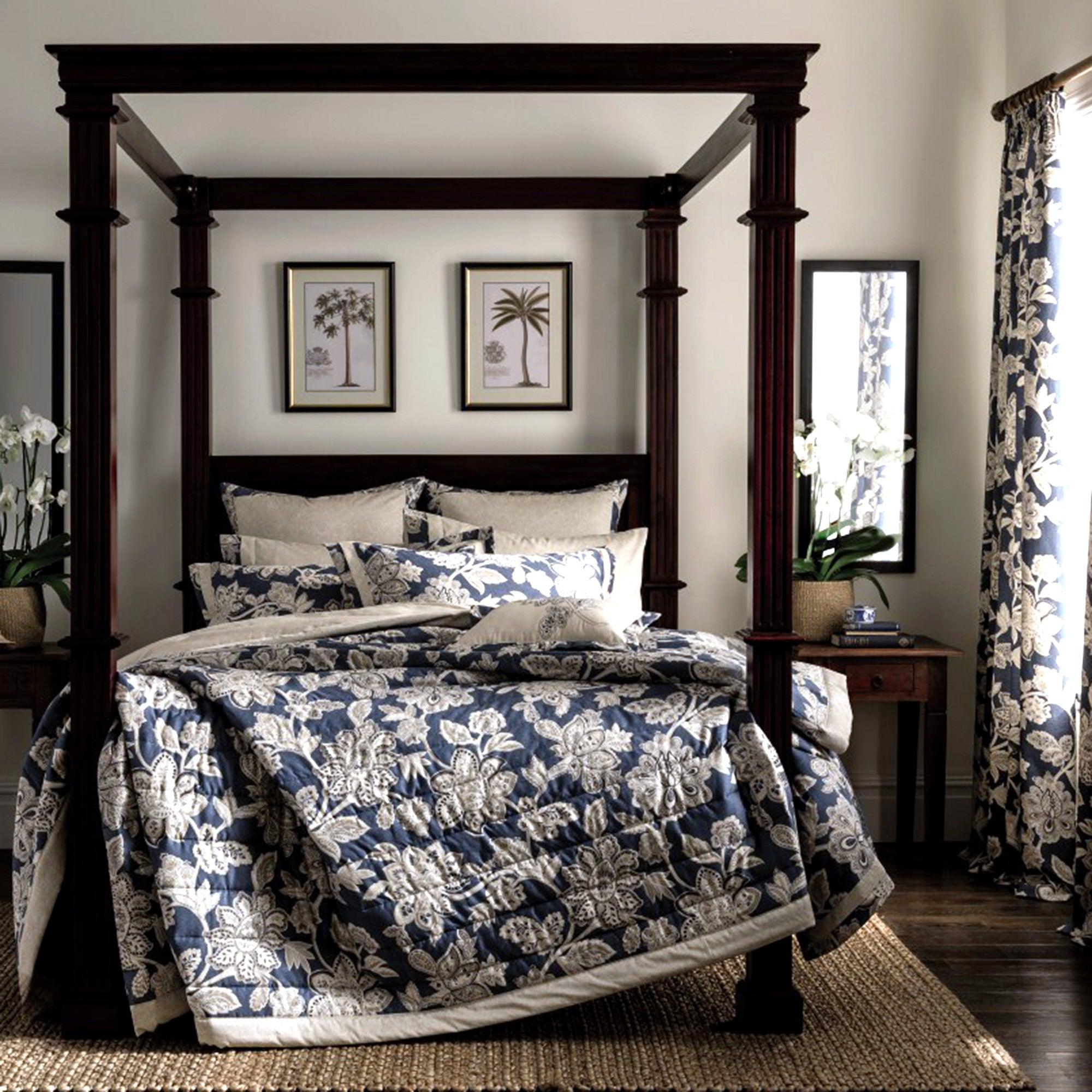Dorma Samira Blue Bedspread Blue