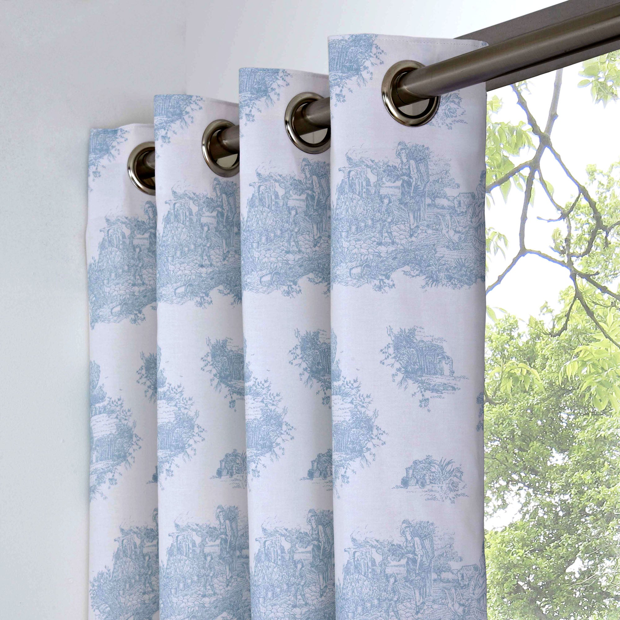 Best Blue Toile Prices In Curtains Blinds Online
