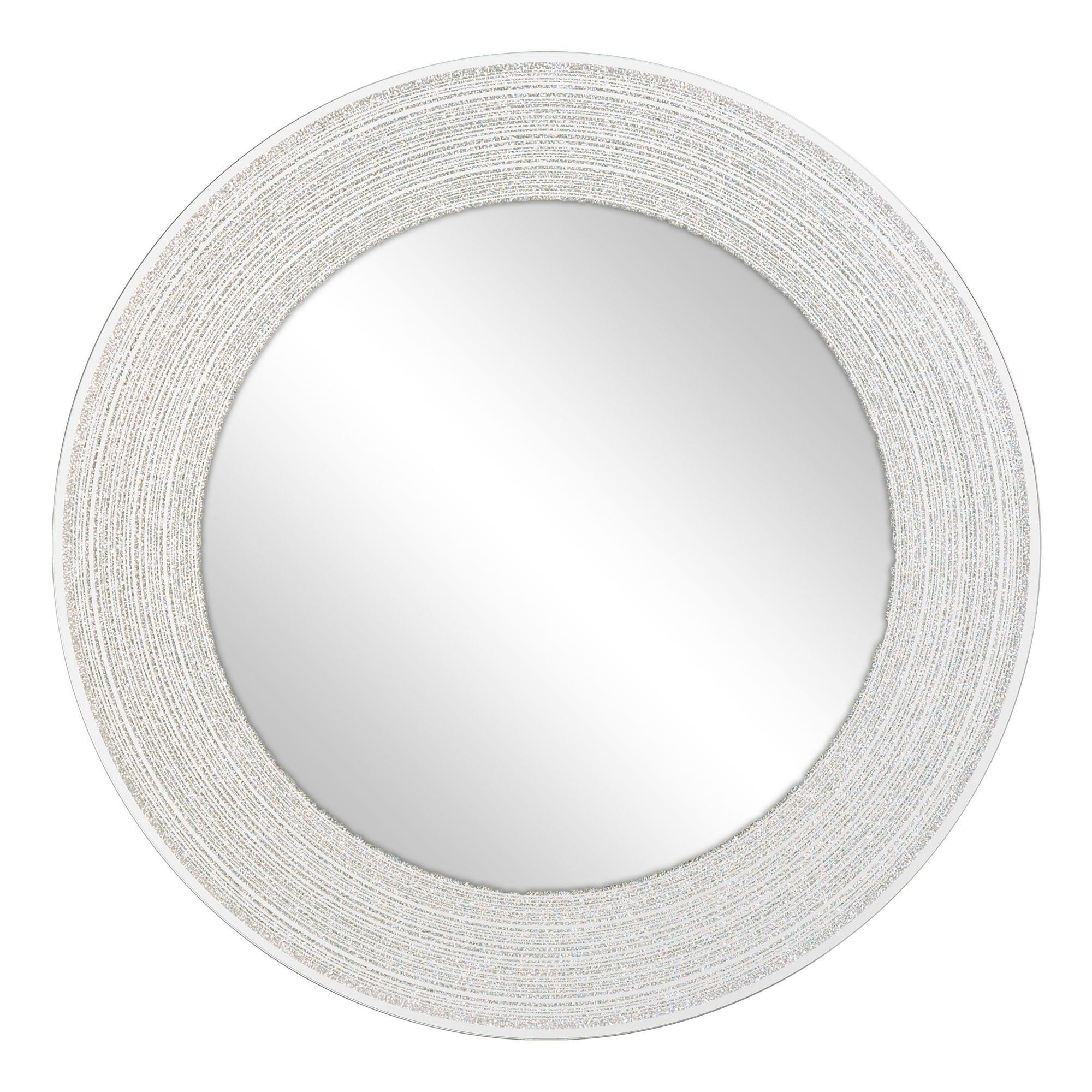Photo of Sparkle circular mirror silver