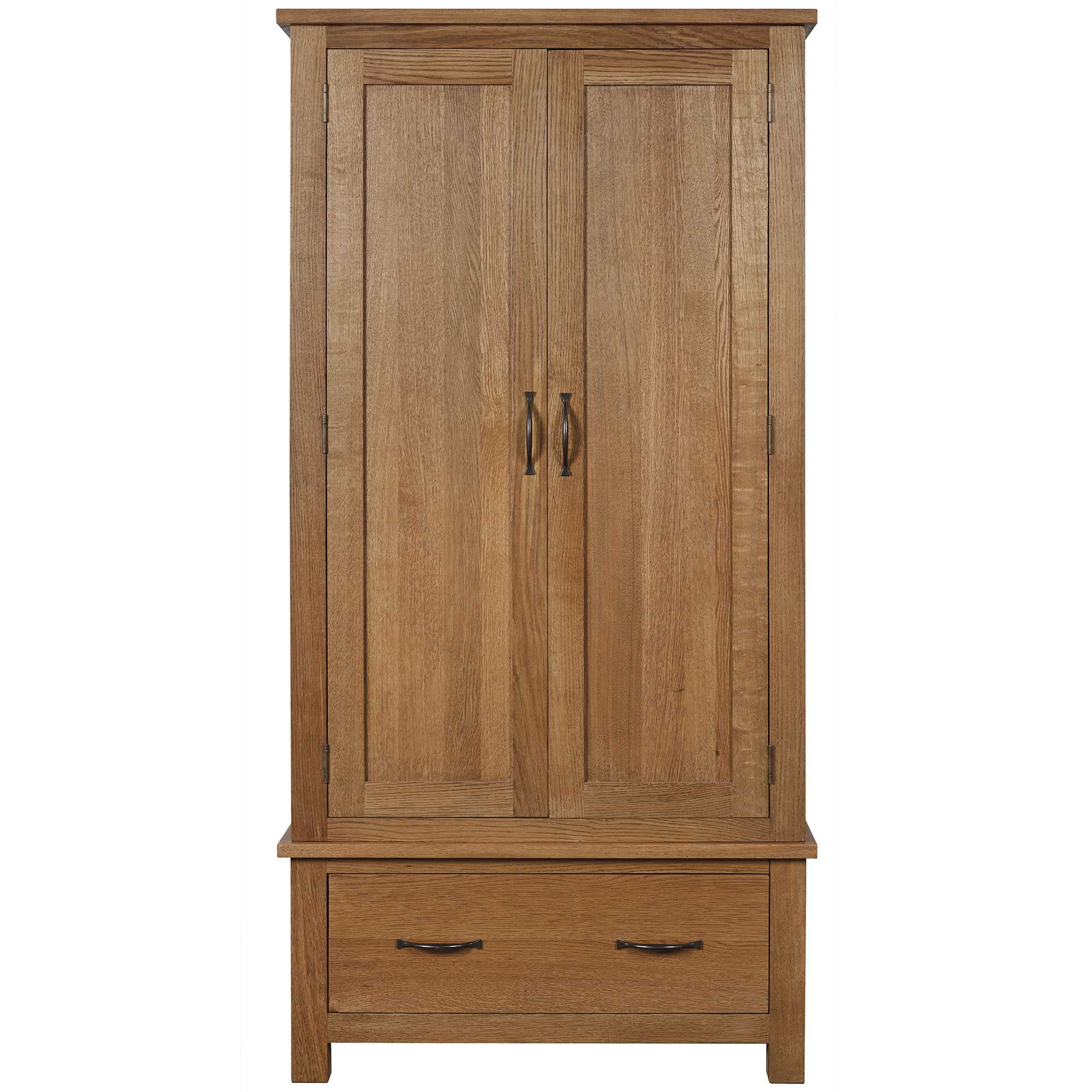 Photo of Sidmouth oak double wardrobe light brown / natural
