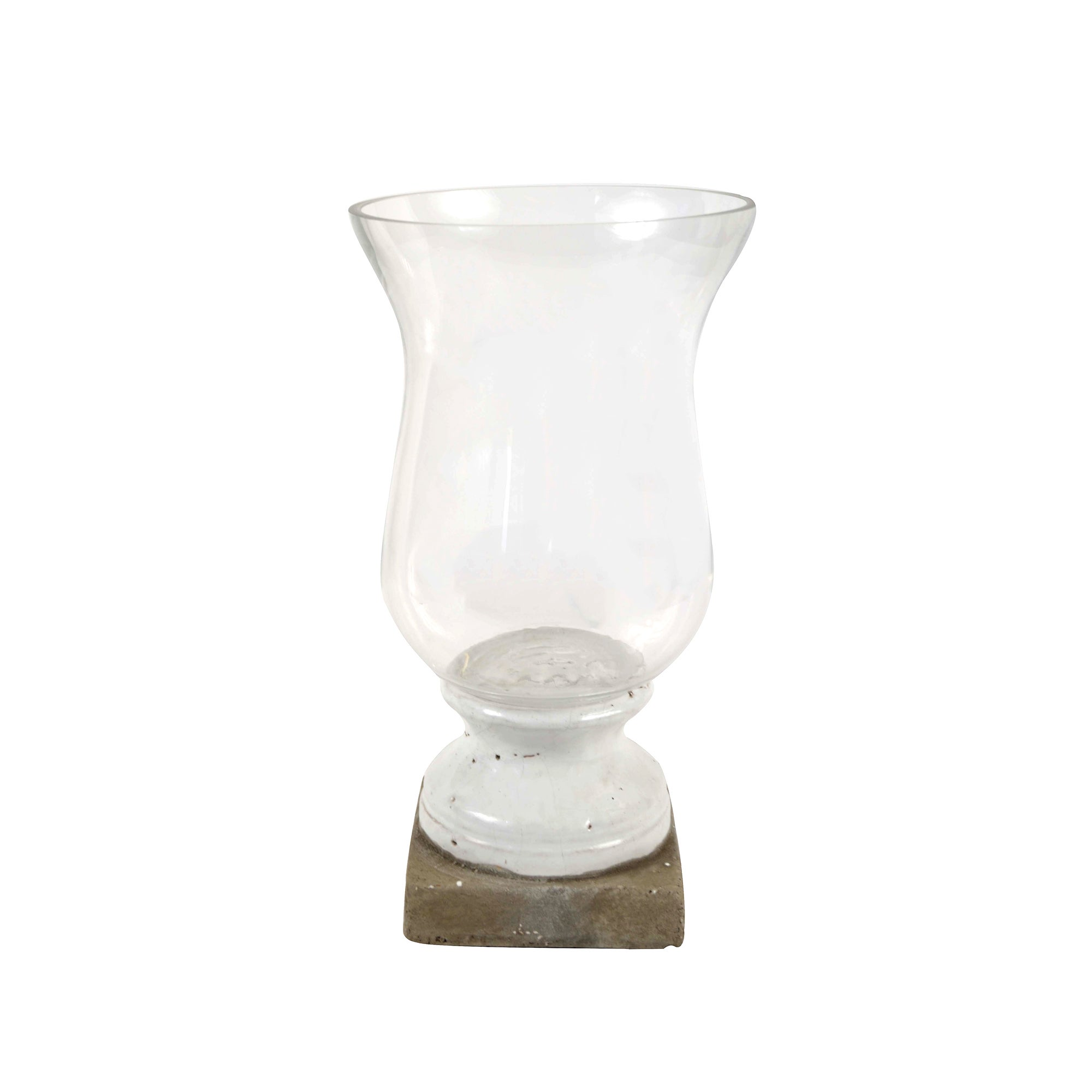 Photo of Dorma stone base hurricane candle holder clear