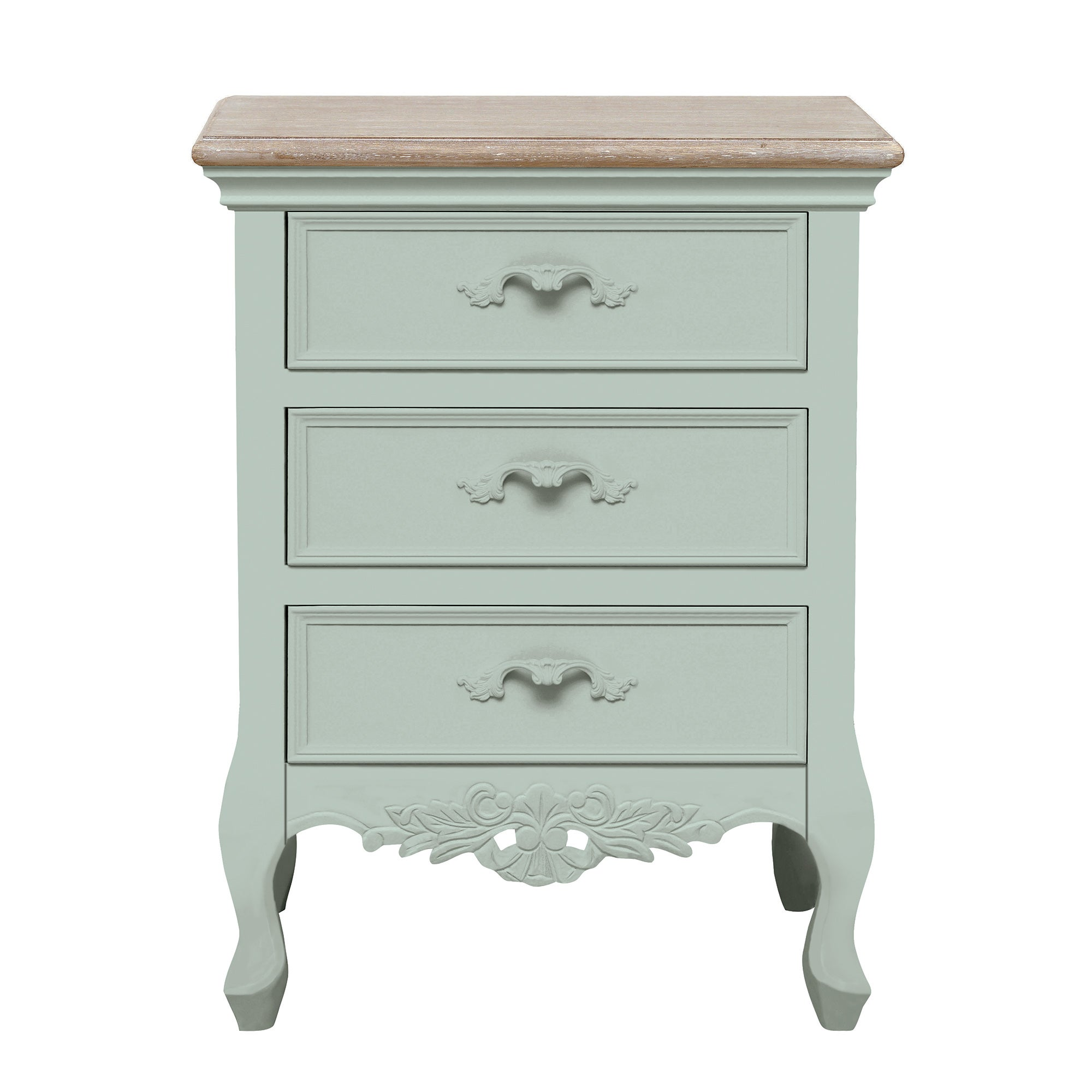 For camille duck egg 3 drawer bedside table duck for Gumtree beauty table