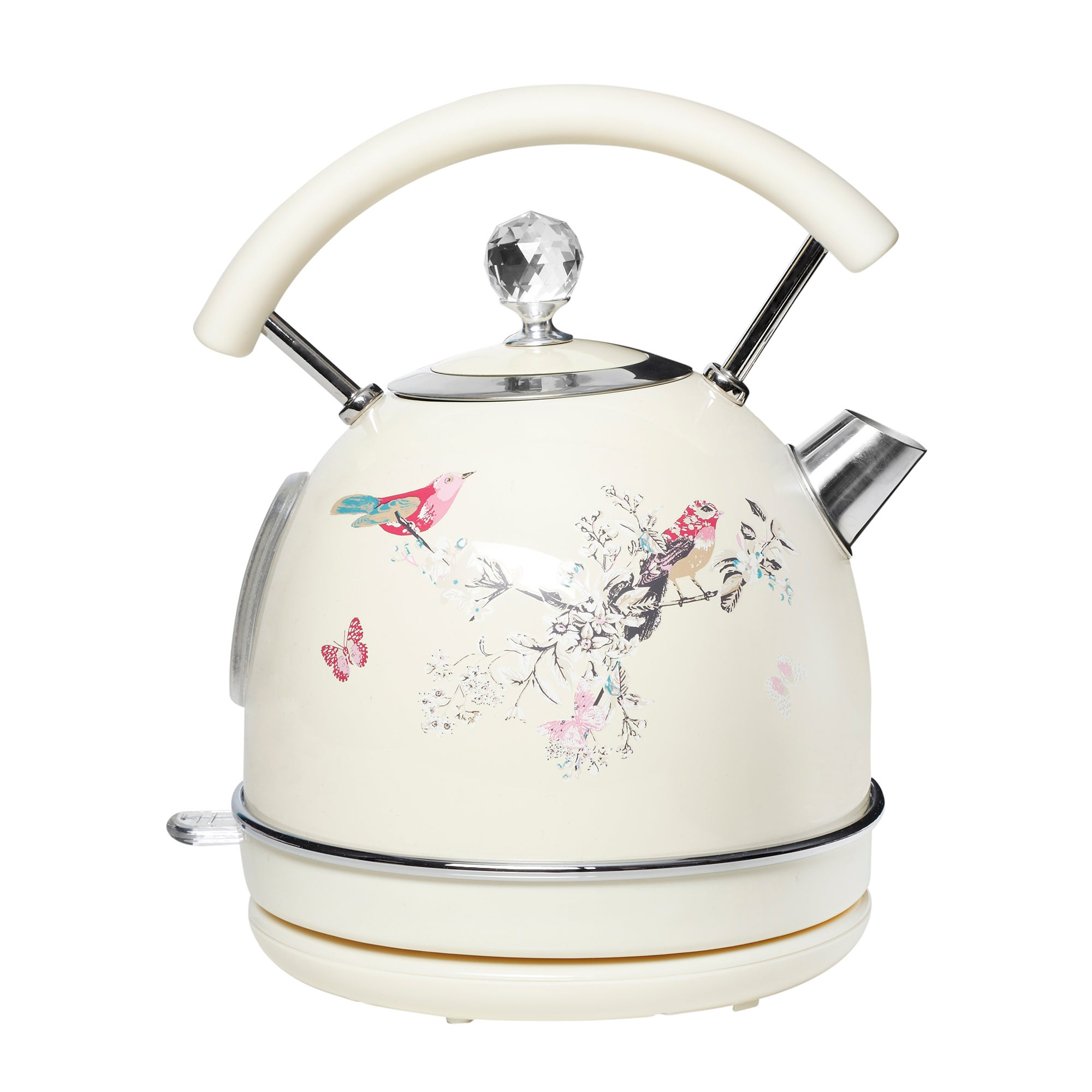 Beautiful Birds 1.7L Cream Kettle Cream