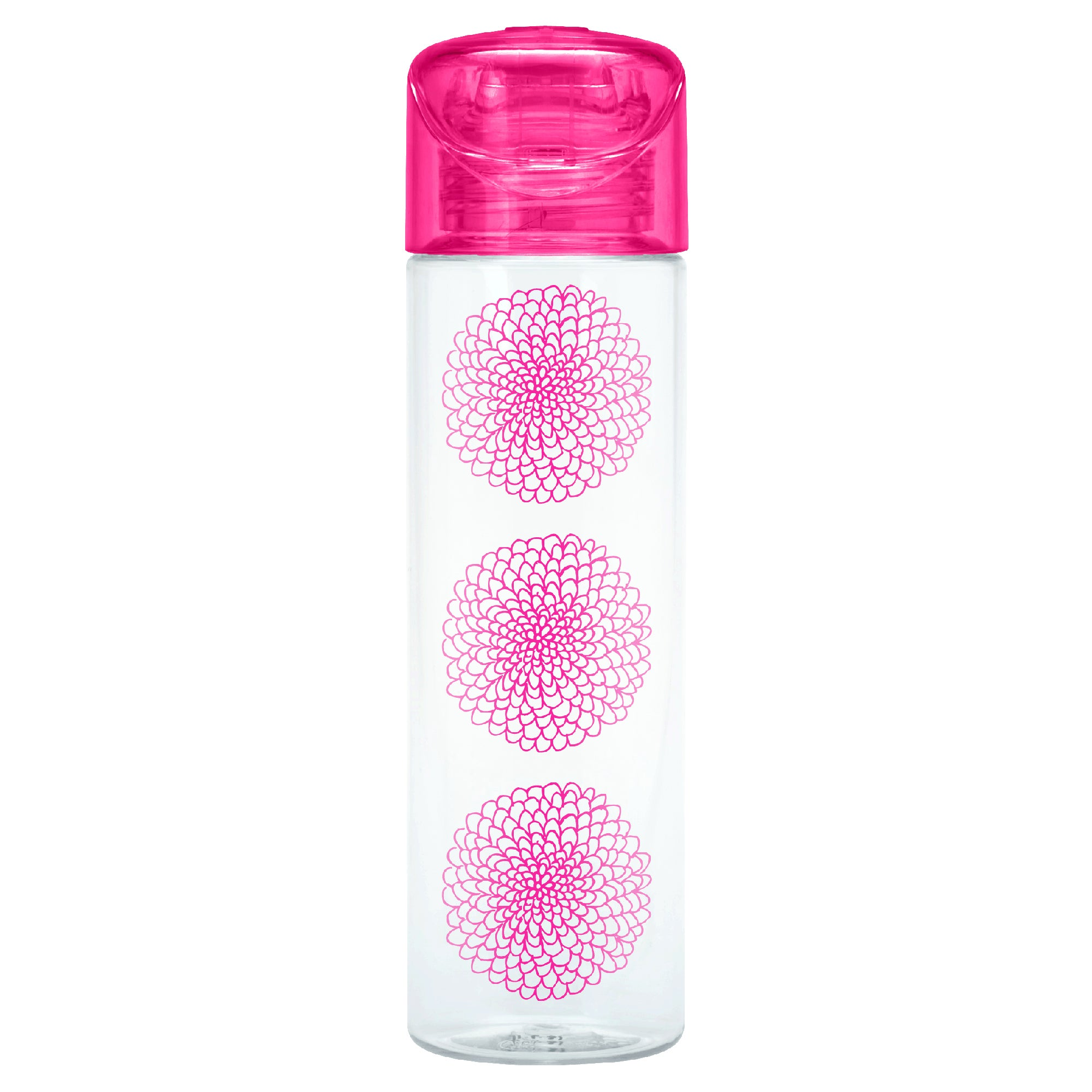 Image of Smash Slim Pink Flower Drinks Bottle Pink