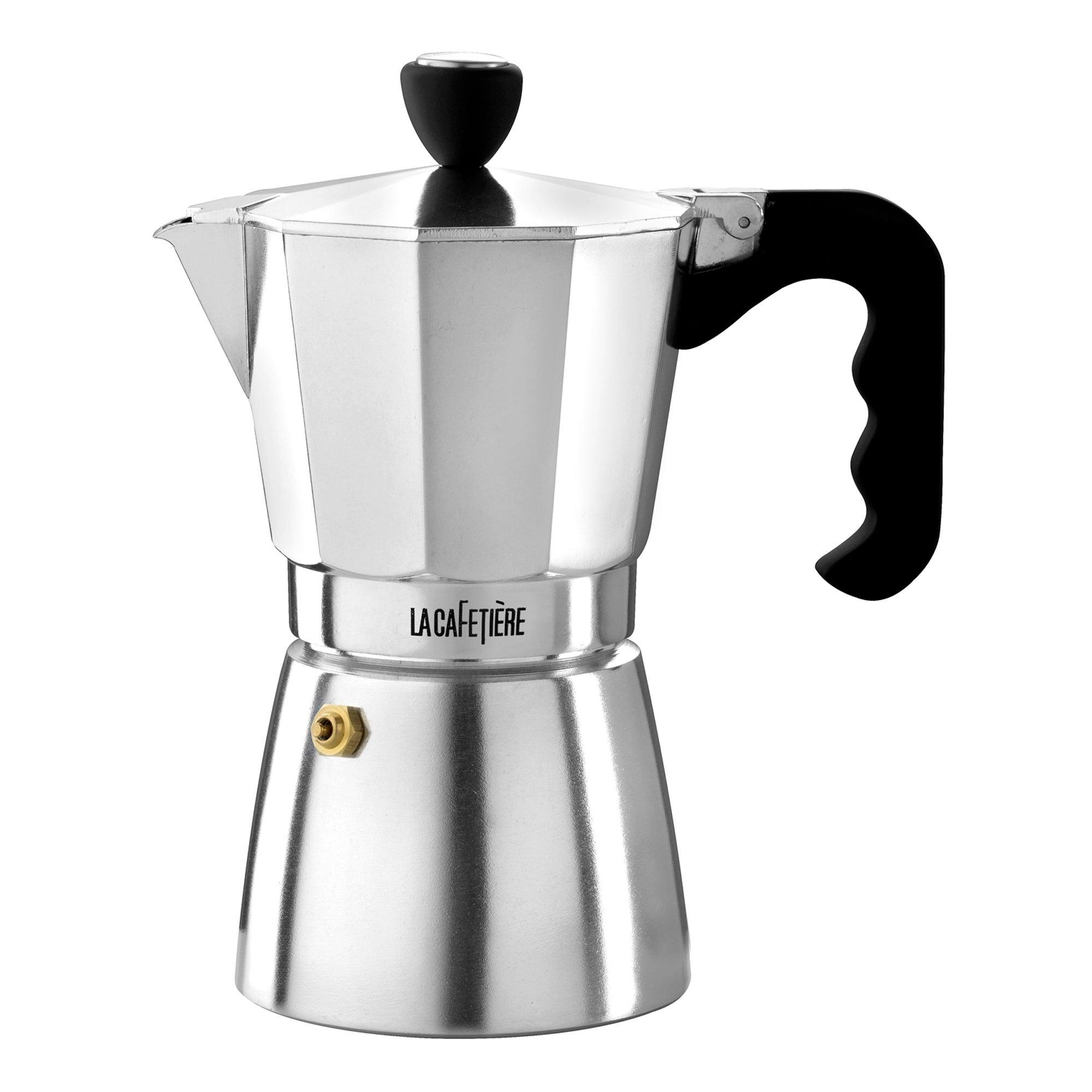 La Cafetiere Silver 6 Cup Stove Top Coffee Maker Silver