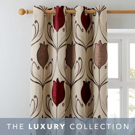 Curtains Ideas burgundy eyelet curtains : Lalique Wine Lined Eyelet Curtains | Dunelm