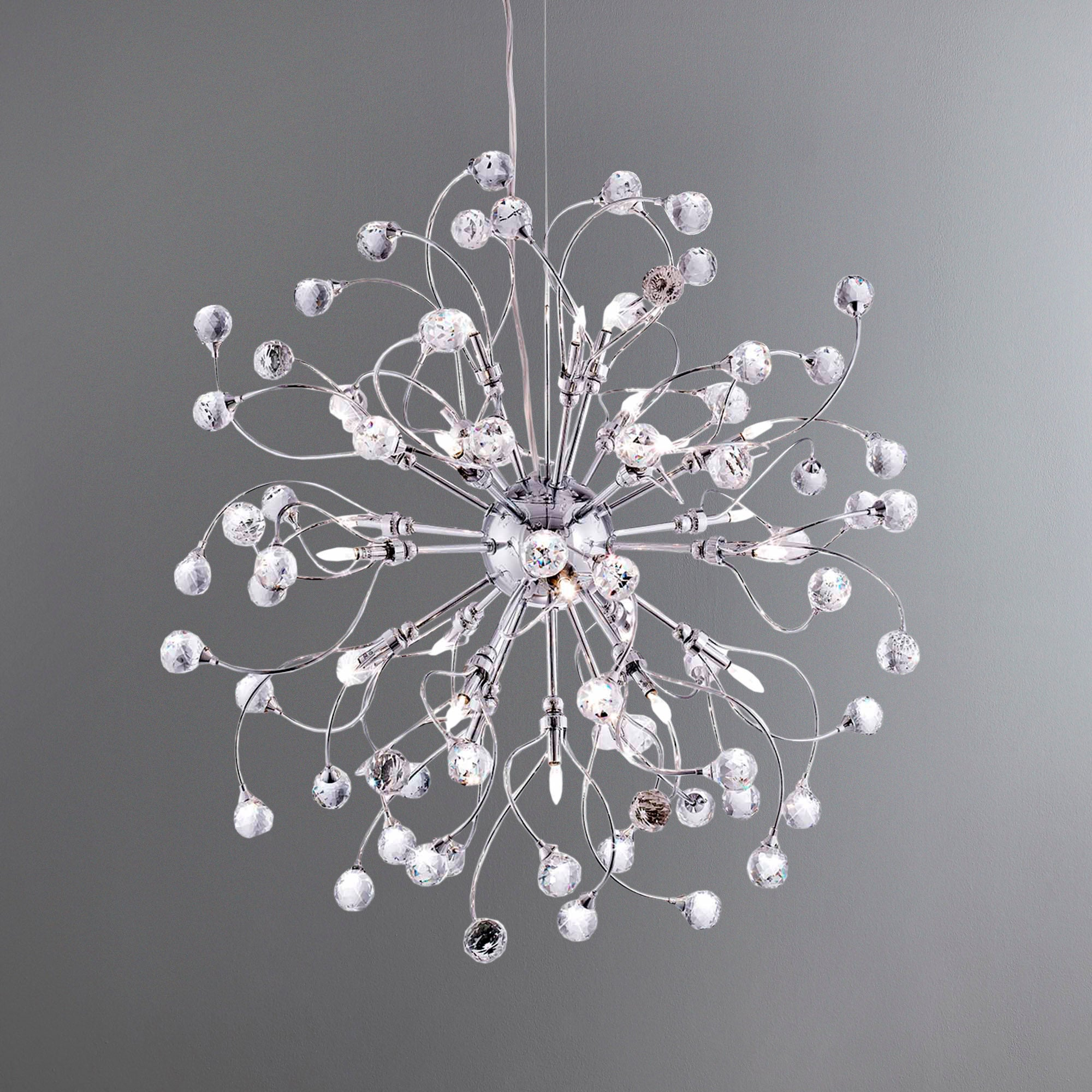 24 Light Ceiling Fitting Silver