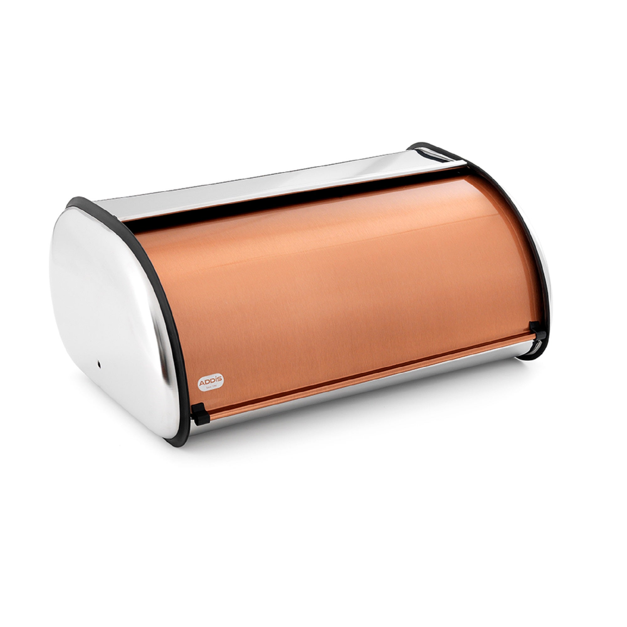 Addis Deluxe Copper Roll Top Bread Bin Copper Brown