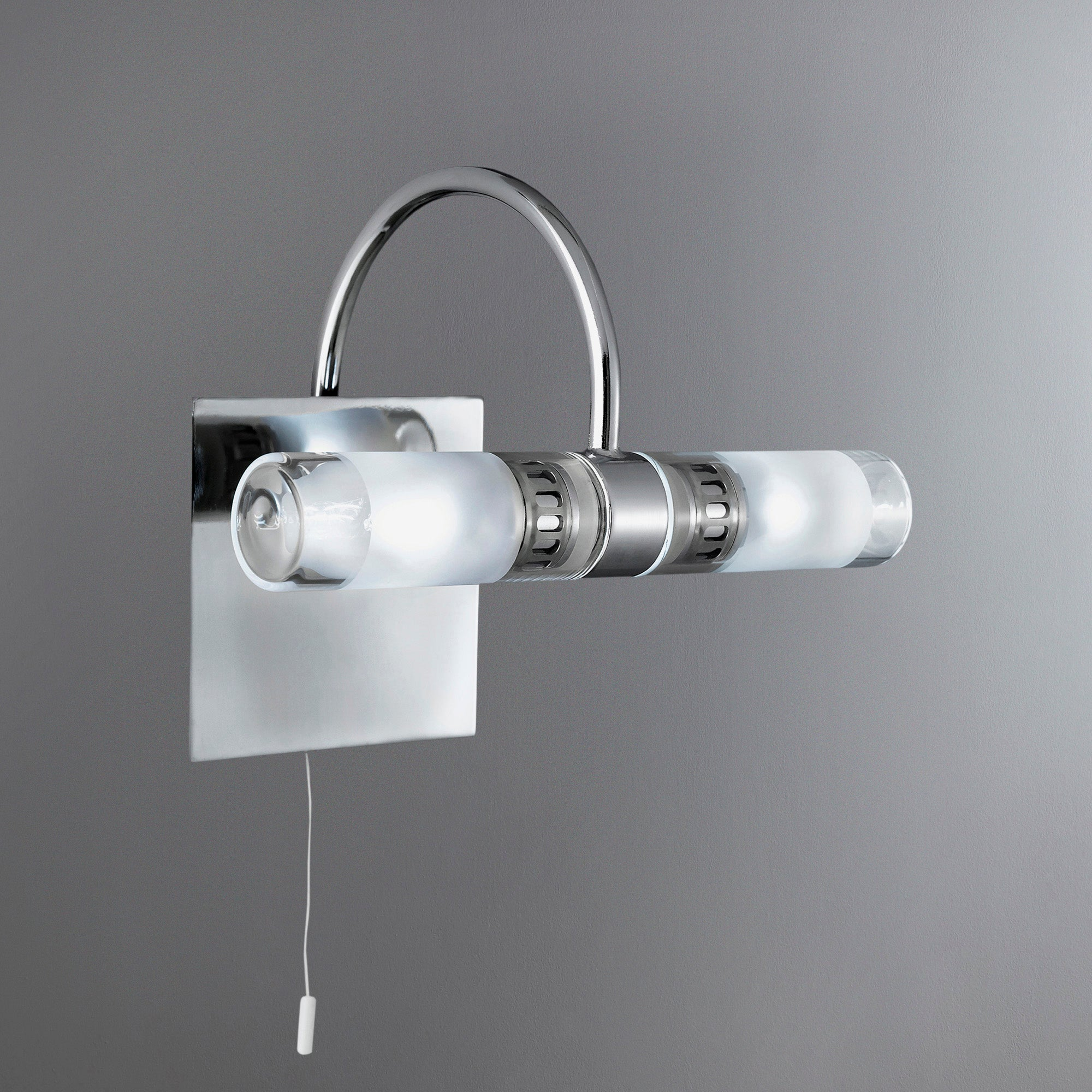 Photo of Chrome 2 light bathroom fitting silver
