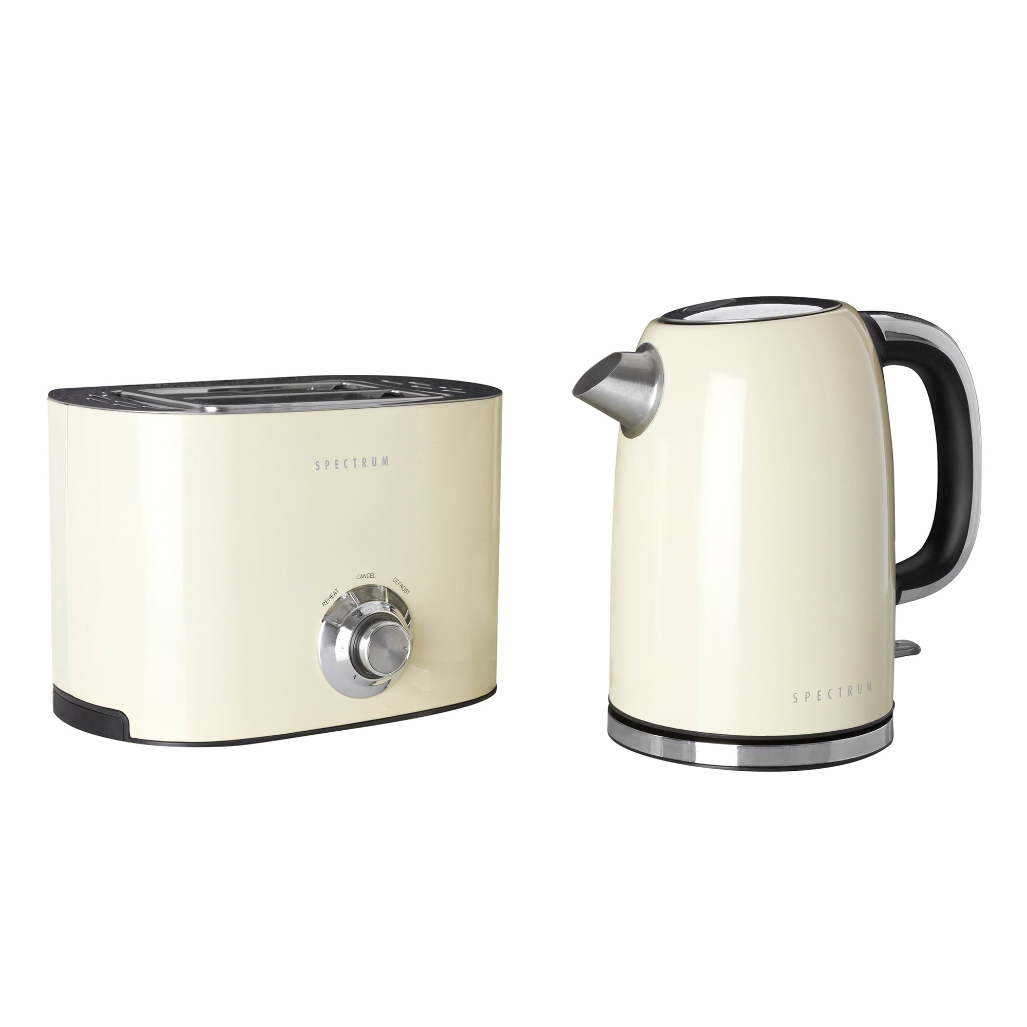 Spectrum Cream Kettle and Toaster Set Cream