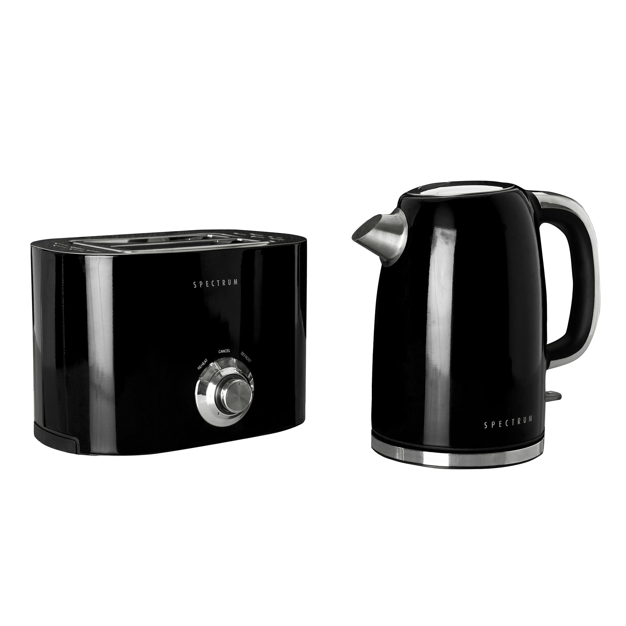 Spectrum Black Kettle and Toaster Set Black