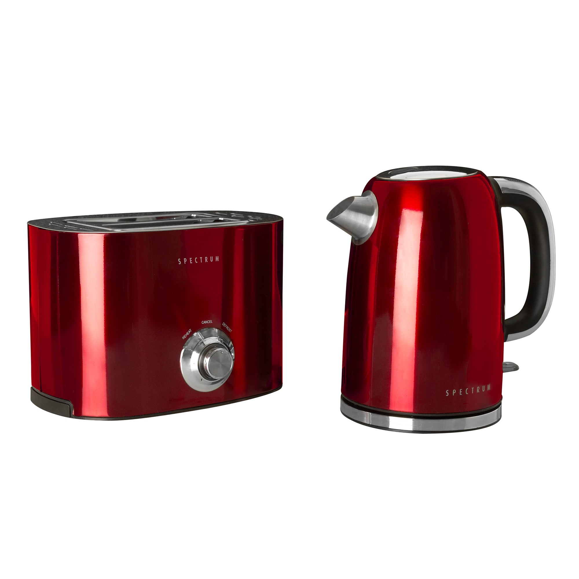 Spectrum Red Kettle and Toaster Set Red