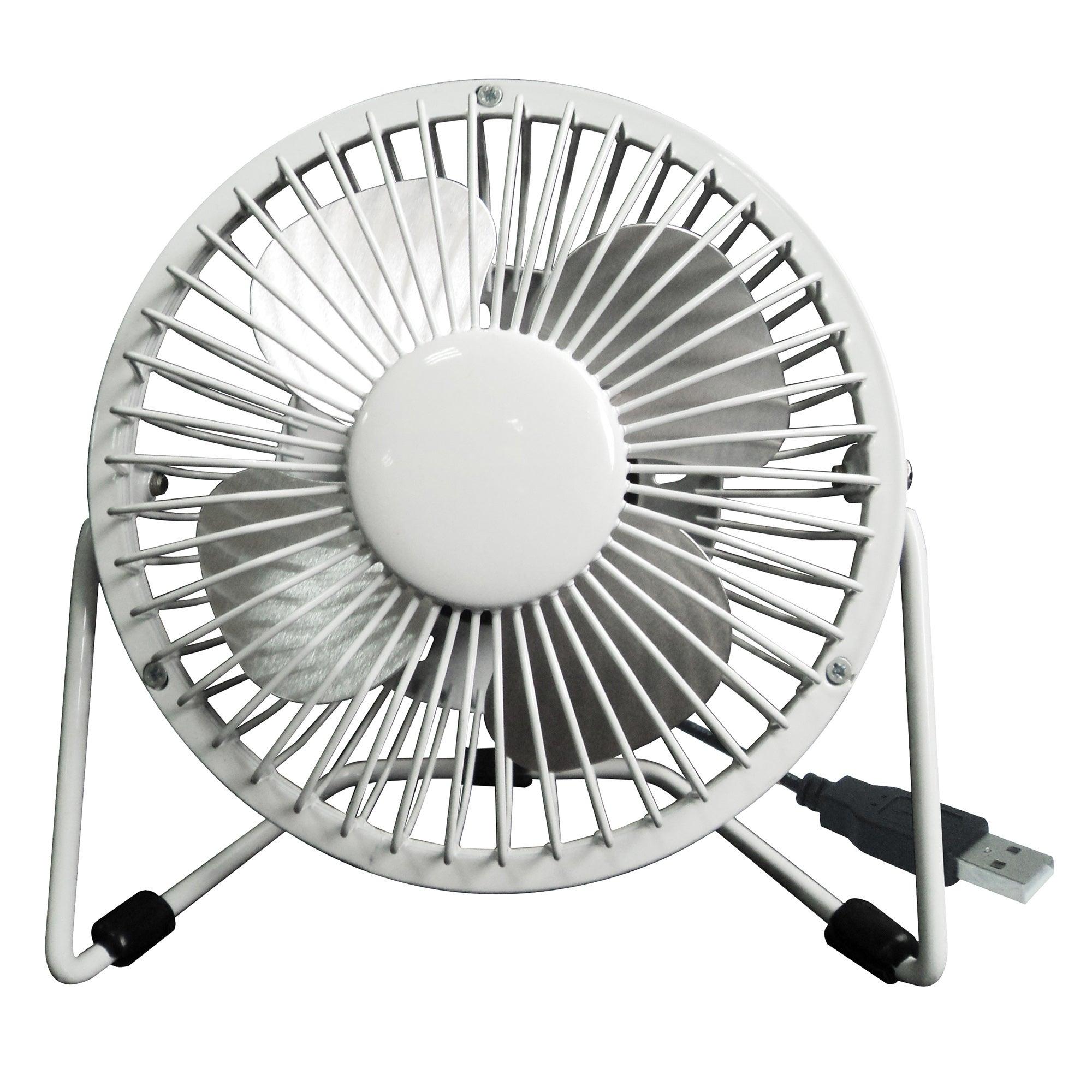 4 USB Fan White