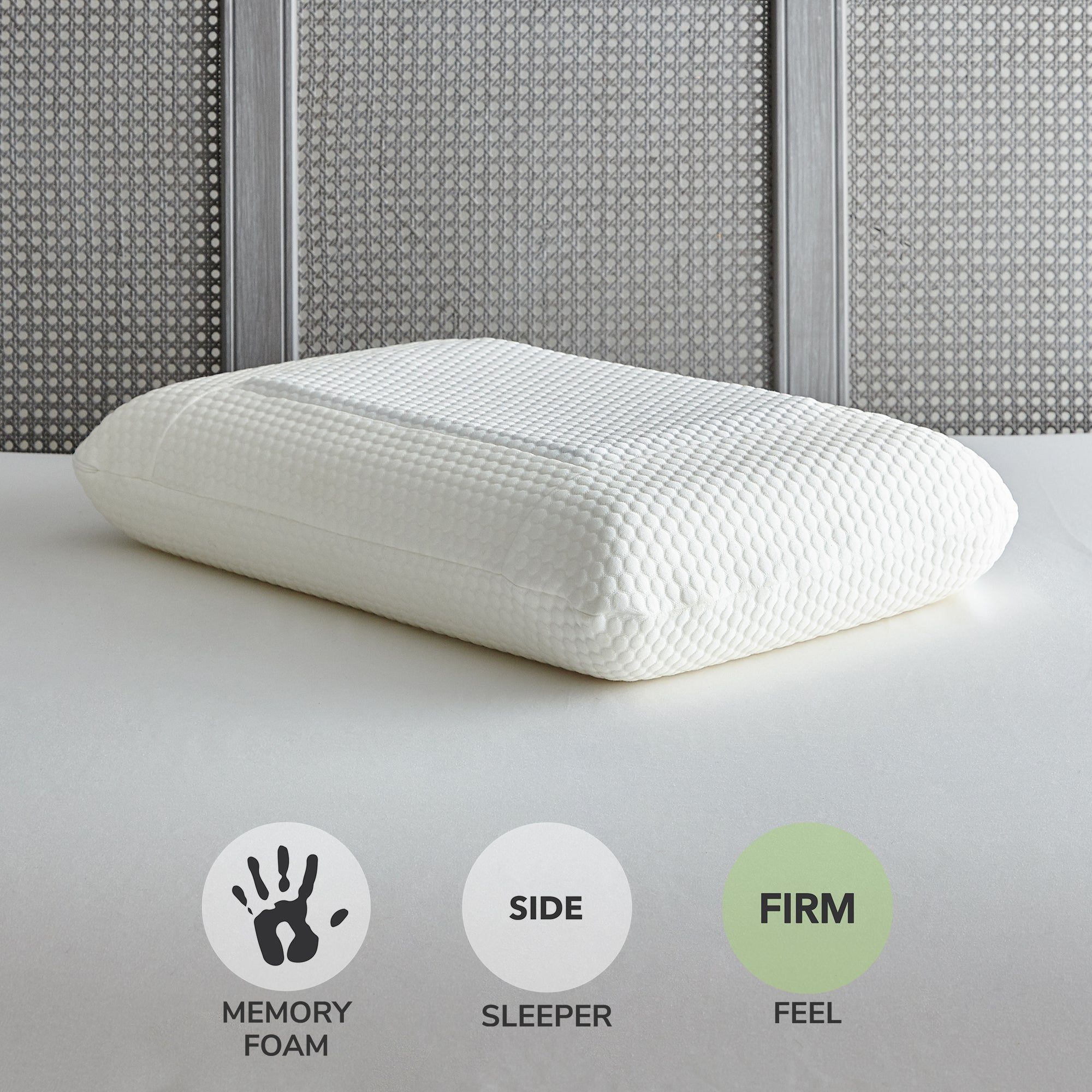 Photo of Gel fusion memory foam pillow white