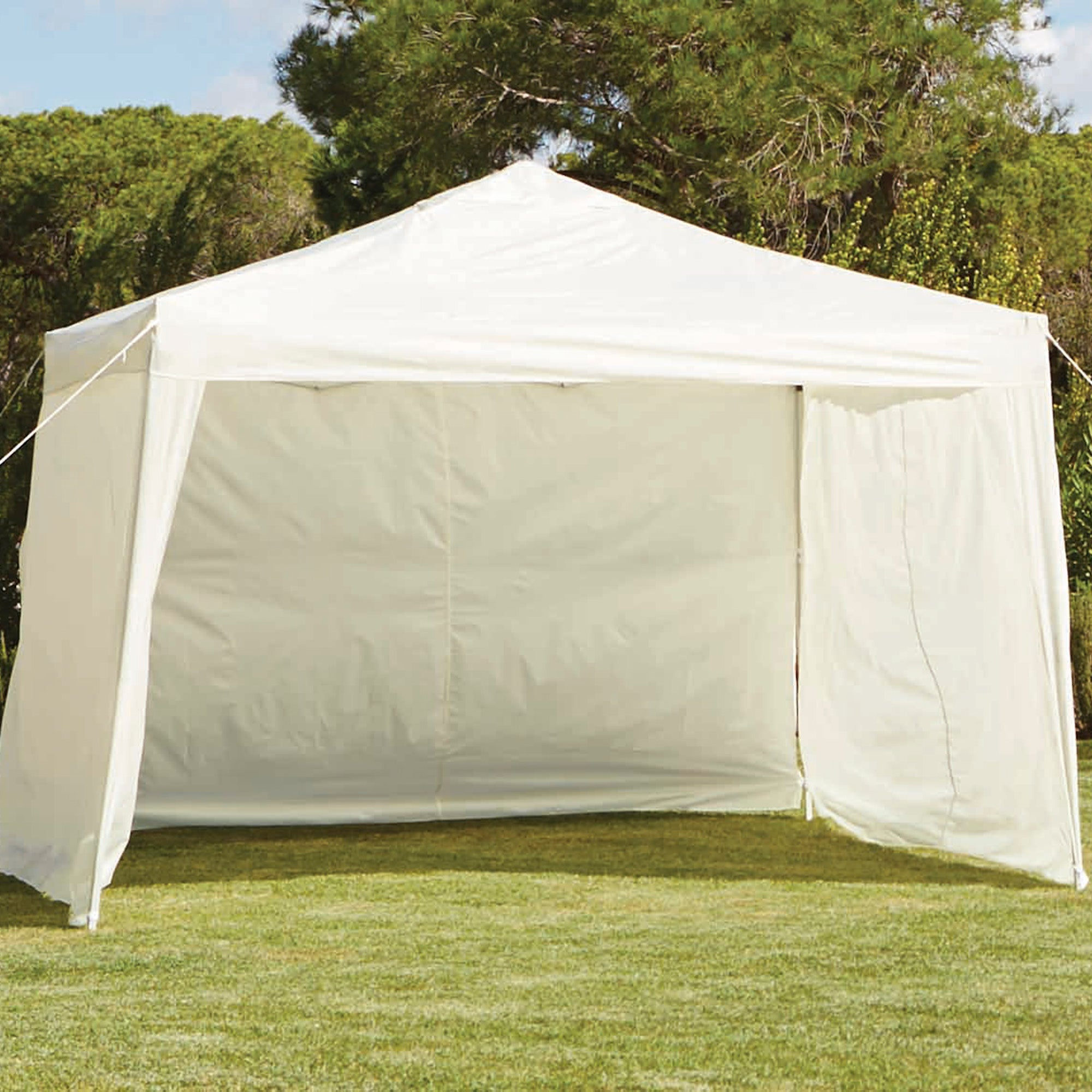 Pop Up Gazebo with Wall Curtains Cream (Natural)