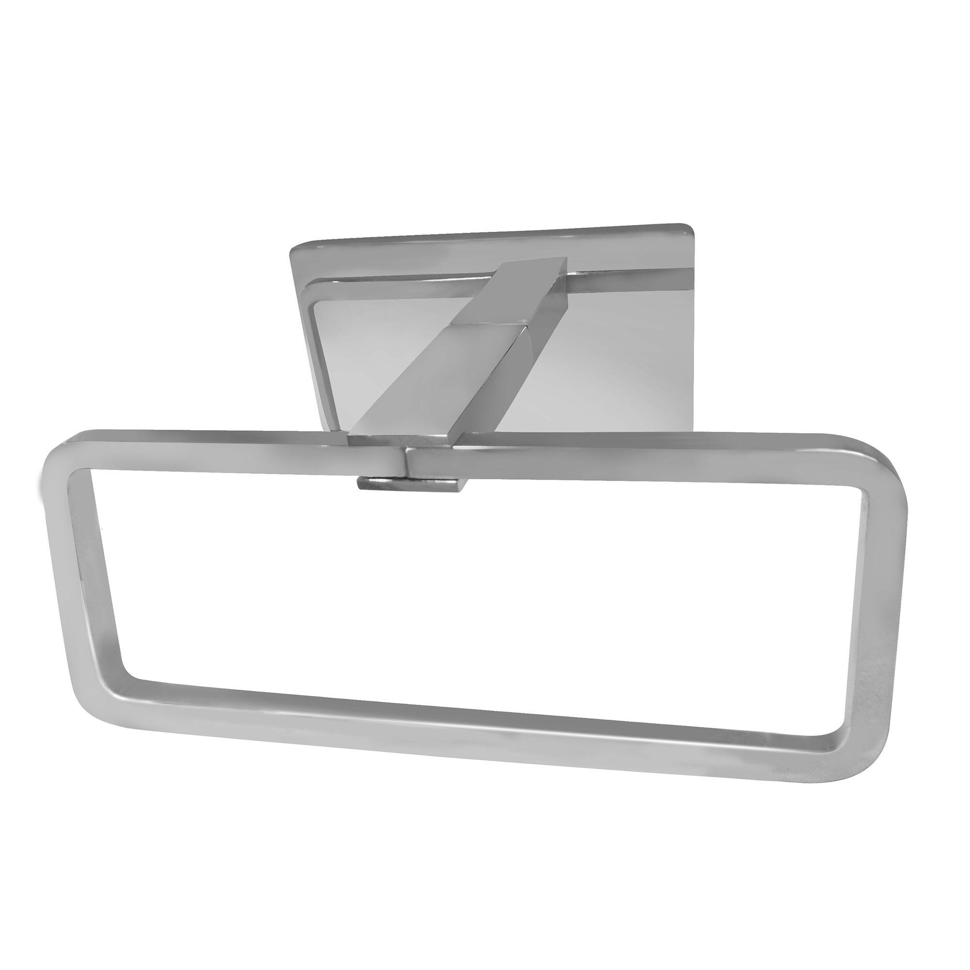 Hotel Towel Ring Silver