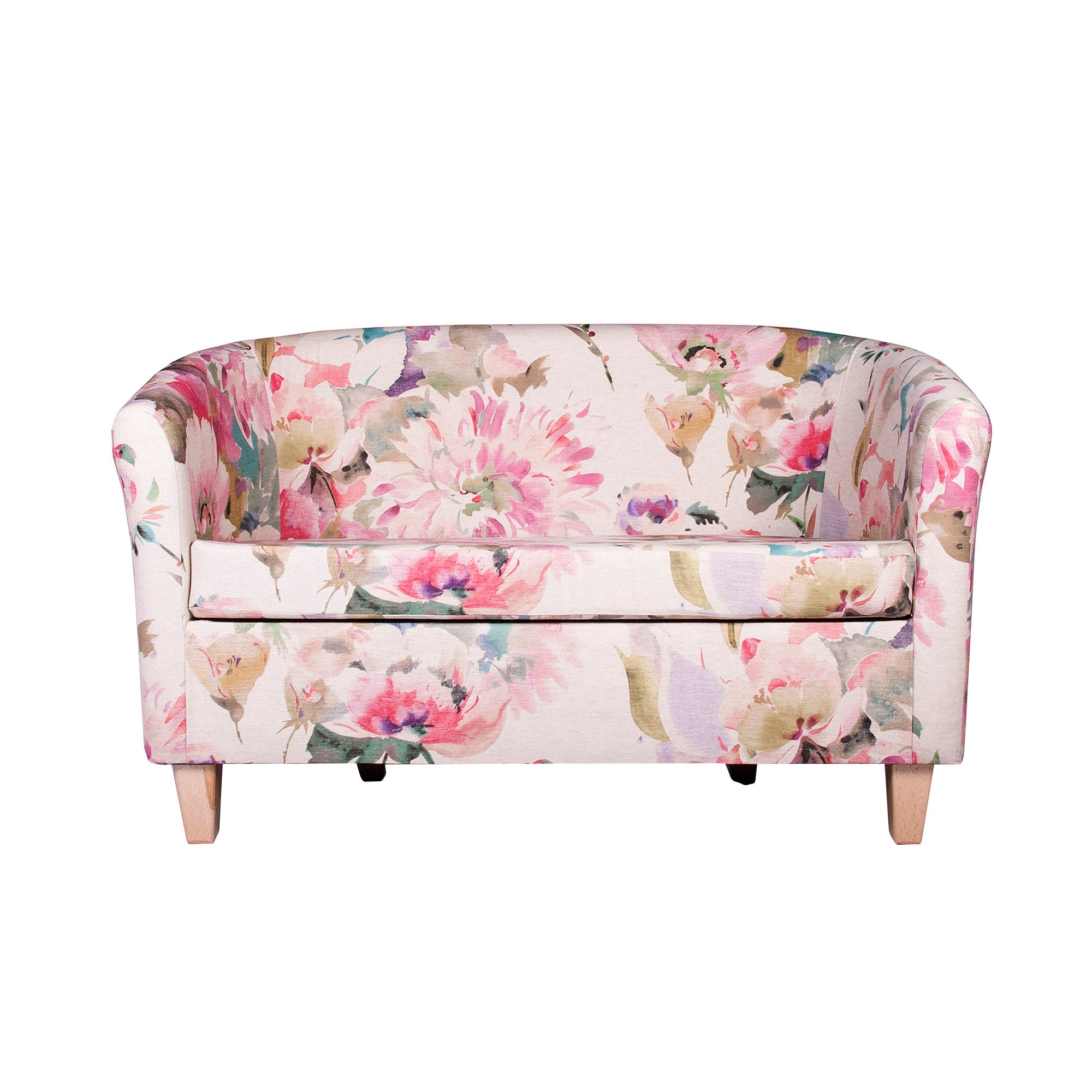 Photo of Floral bloom two seater tub chair pink / cream