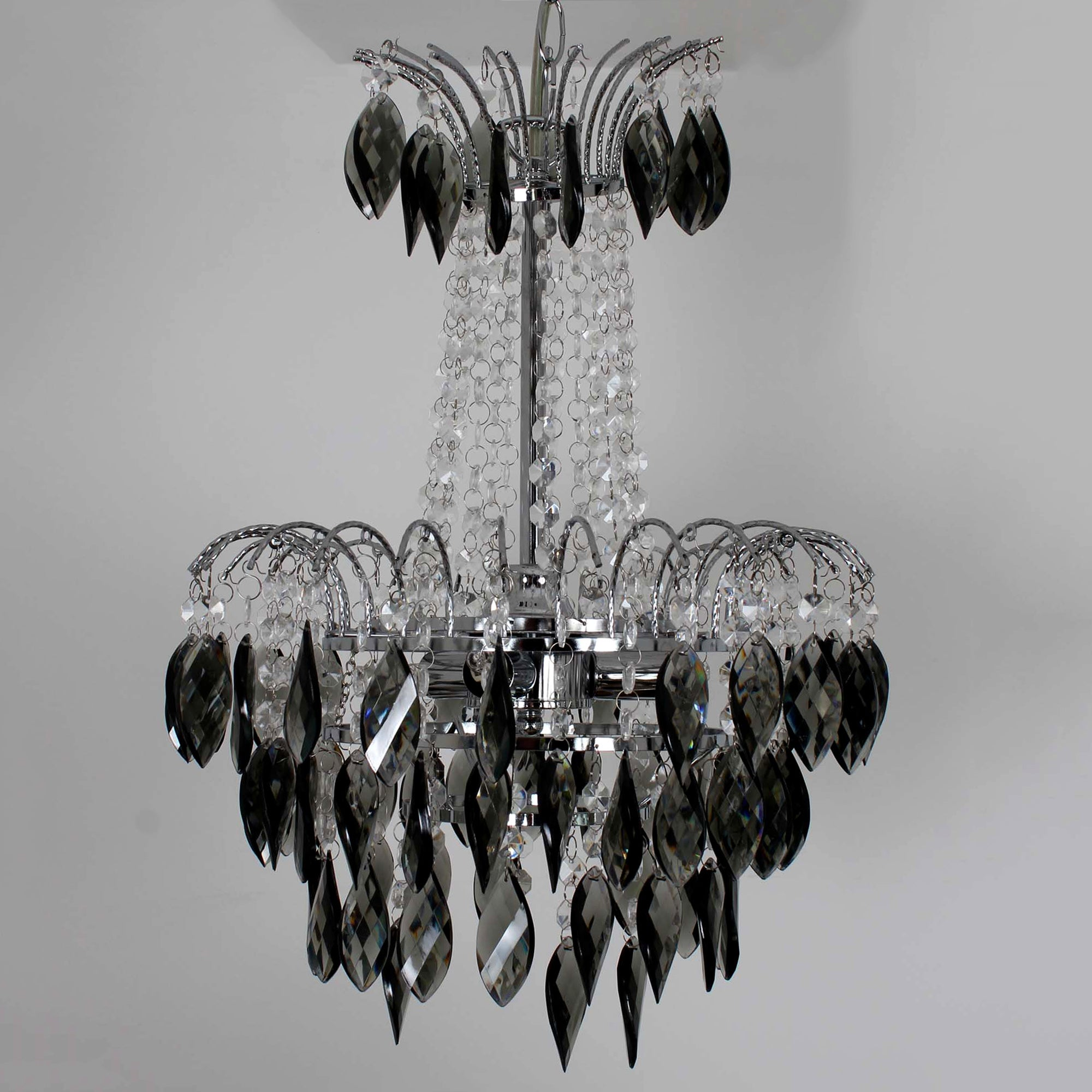 Sarah Chandelier Acrylic Drop Light Fitting Charcoal