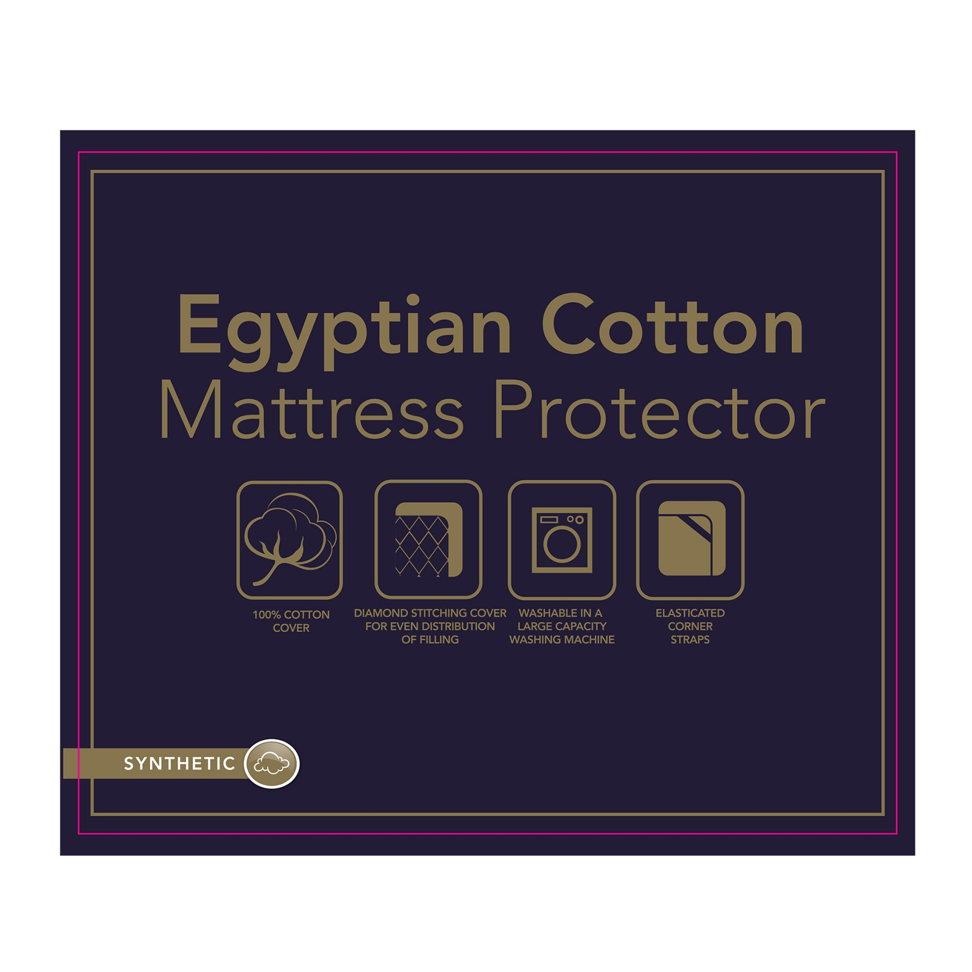 Image of Egyptian Cotton Mattress Protector White