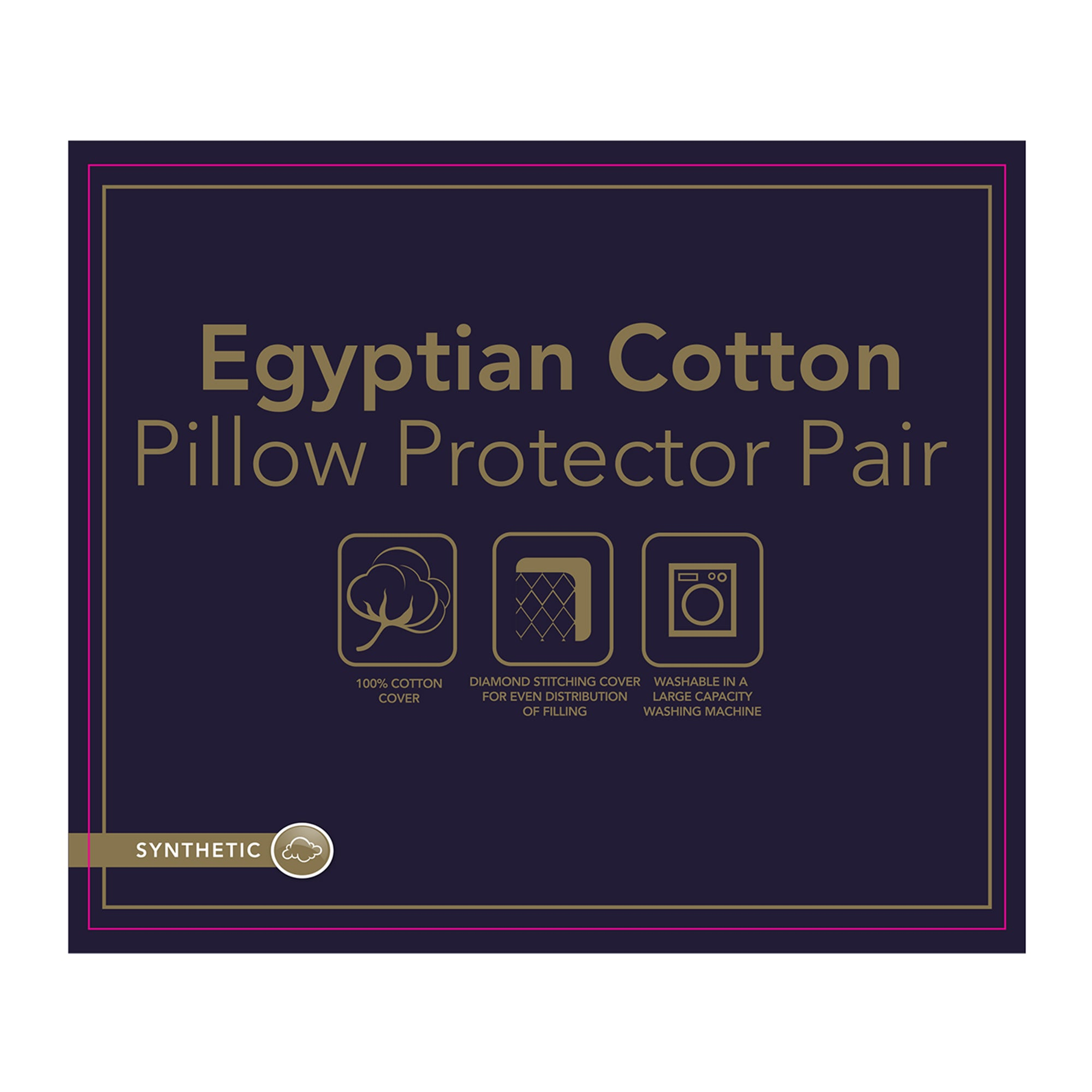 Image of Egyptian Cotton Pillow Protector Pair White
