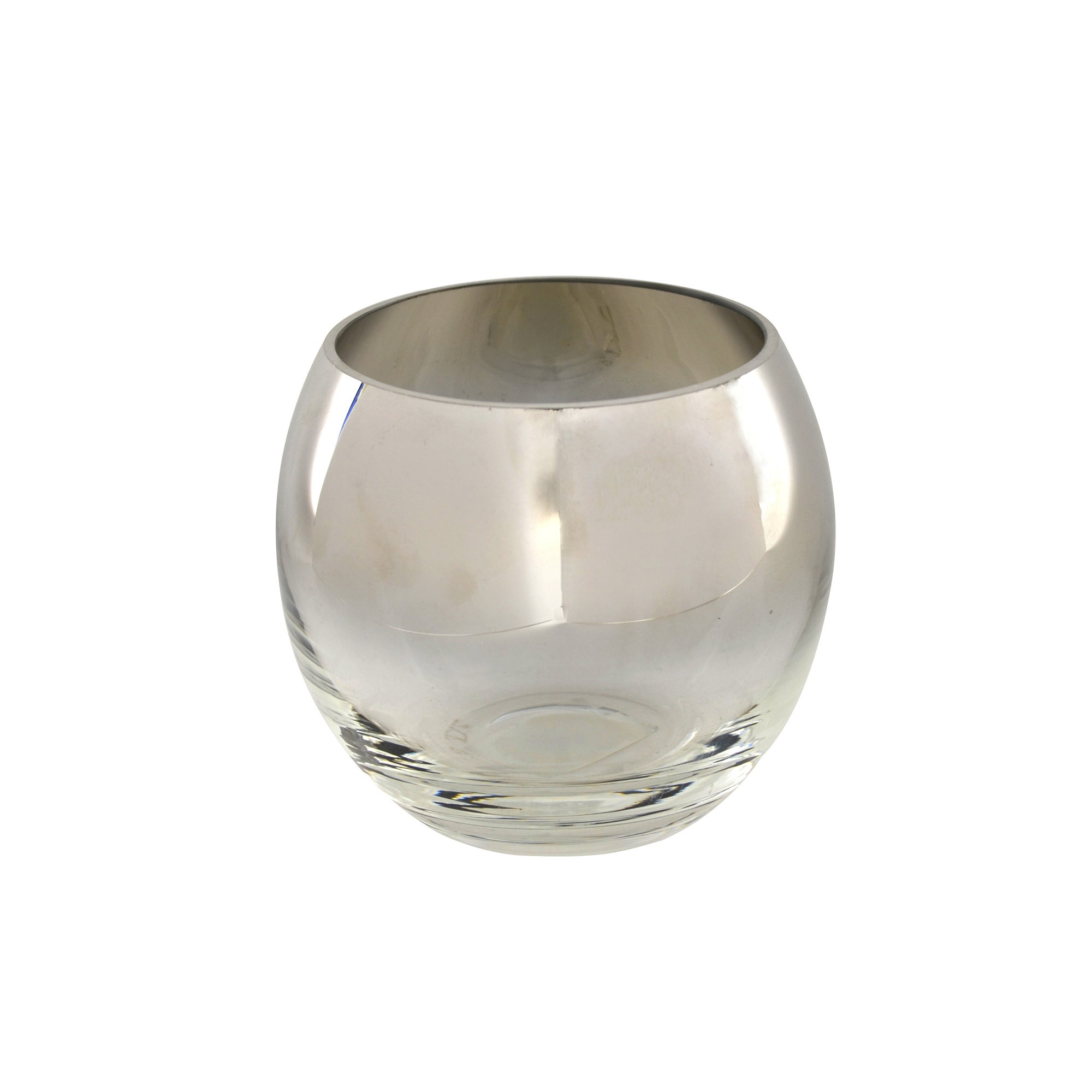 Photo of Hotel silver glass tea light holder silver